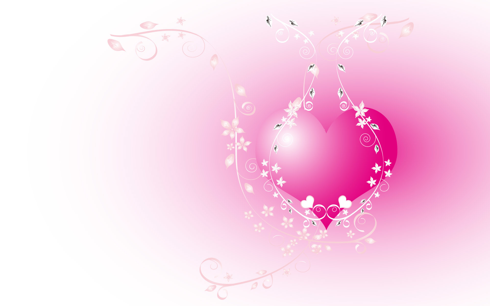 1920x1200 Download Hearts wallpaper, the pink heart image