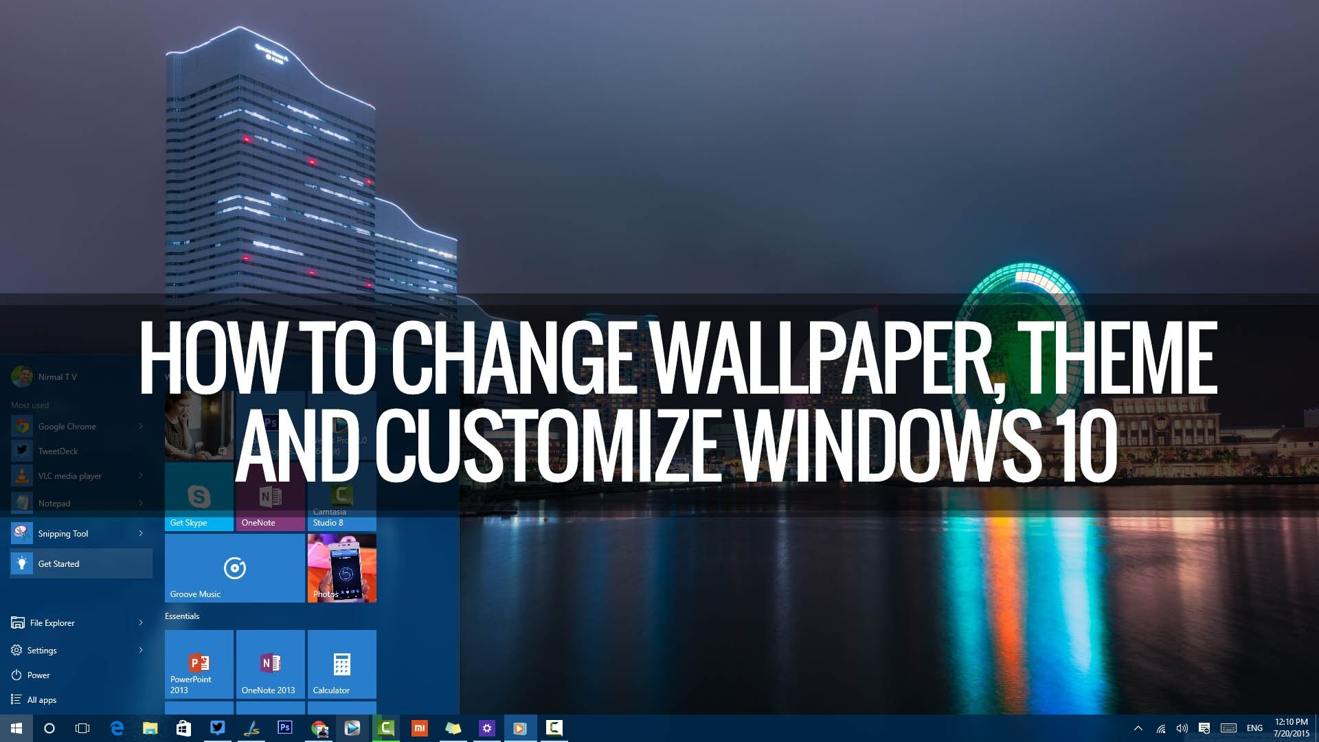 1920x1080 How to Change Wallpapers, Themes, Lockscreen and Start in Windows 10 |  Techniqued - YouTube