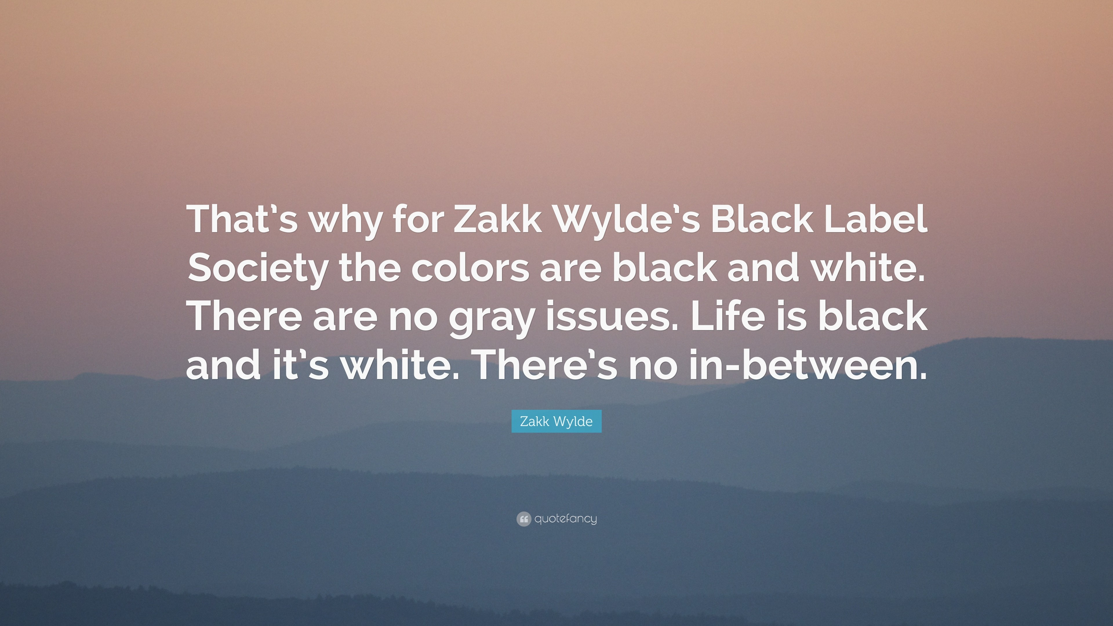 "3840x2160 Zakk Wylde Quote: ""That's why for Zakk Wylde's Black Label Society the  colors are"