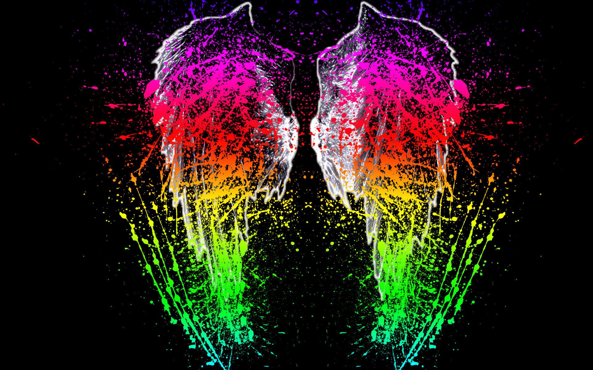 Splatter Splat Neon Wallpaper Paints Pictures Wwwpicturesbosscom