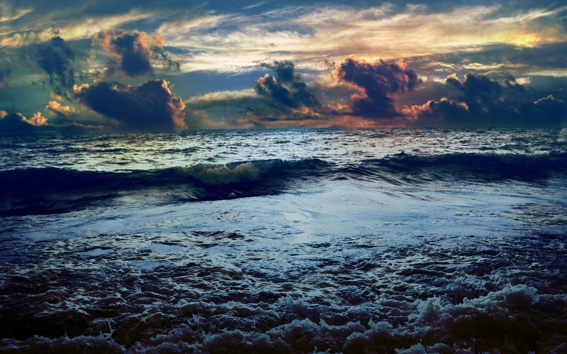1920x1200 Clouds nature horizon storm seascapes sky sea ocean sky clouds sunset  sunrise beaches waves wallpaper |  | 58937 | WallpaperUP