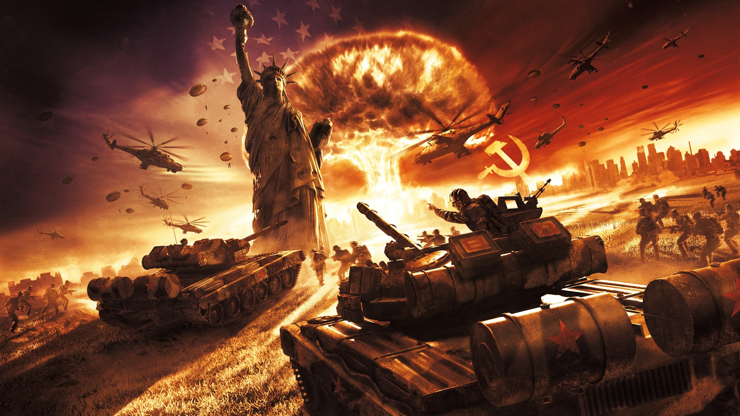 2560x1440 Syria, World War Iii, United States, Nuclear Warfare, Second World War  Wallpaper