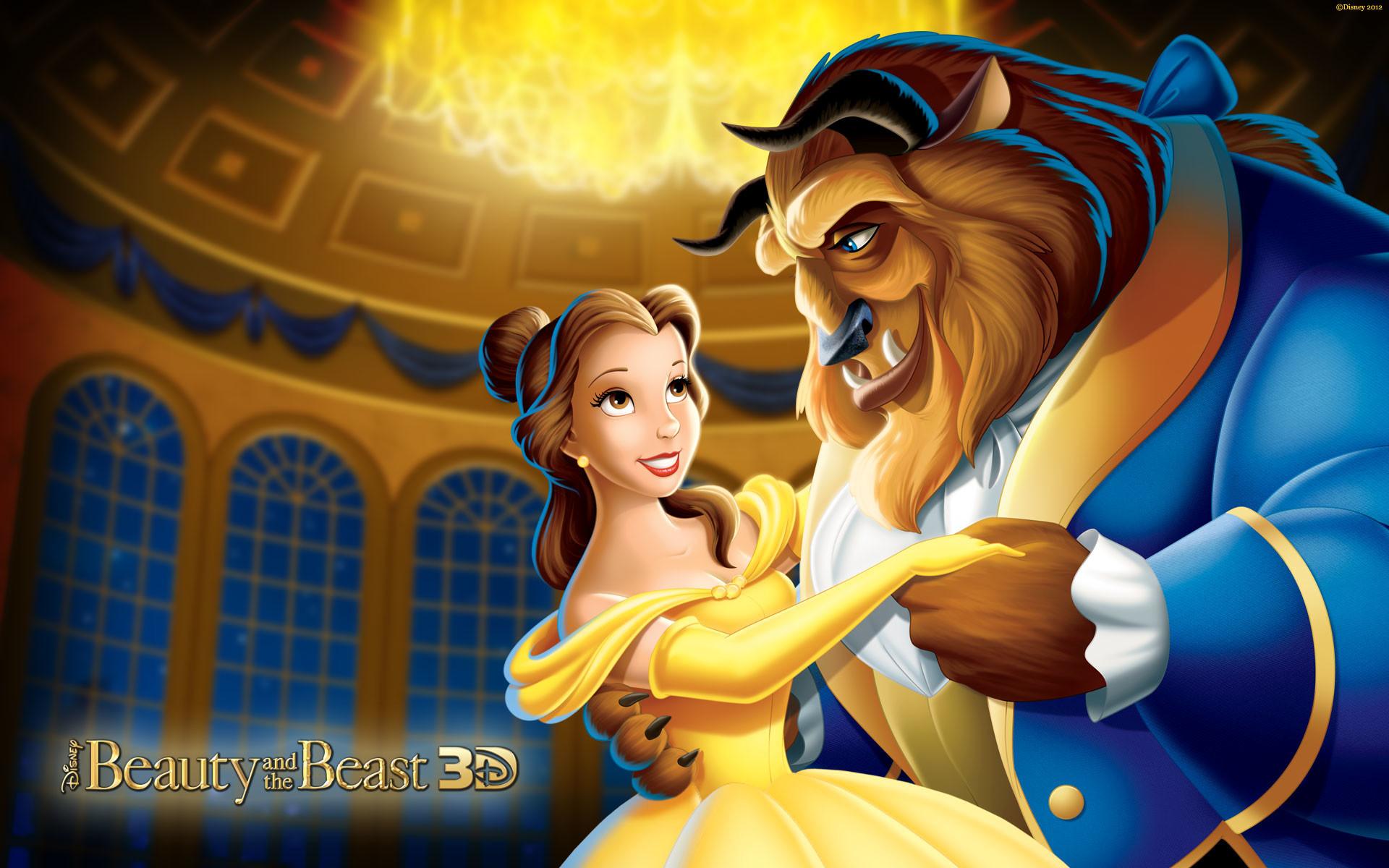 1920x1200 Disney Princess Belle And Beast