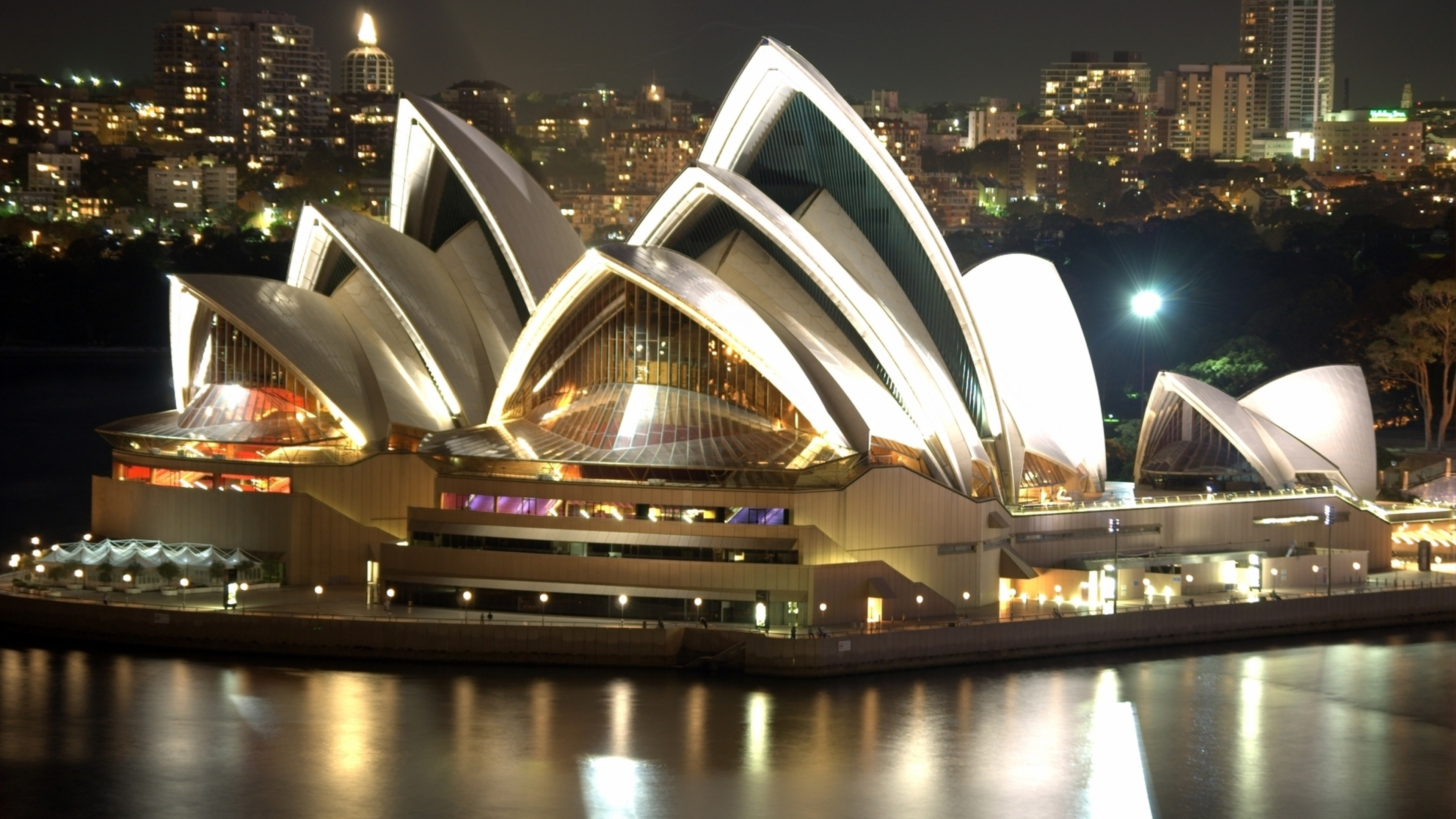3840x2160  Wallpaper sydney, theater, opera
