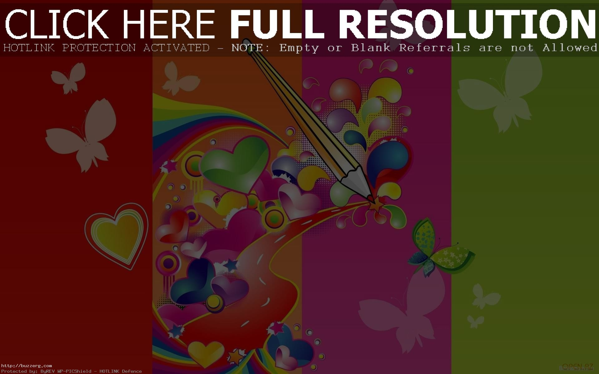 1920x1200 Colorful Love Design Valentines Day (id: 135821)