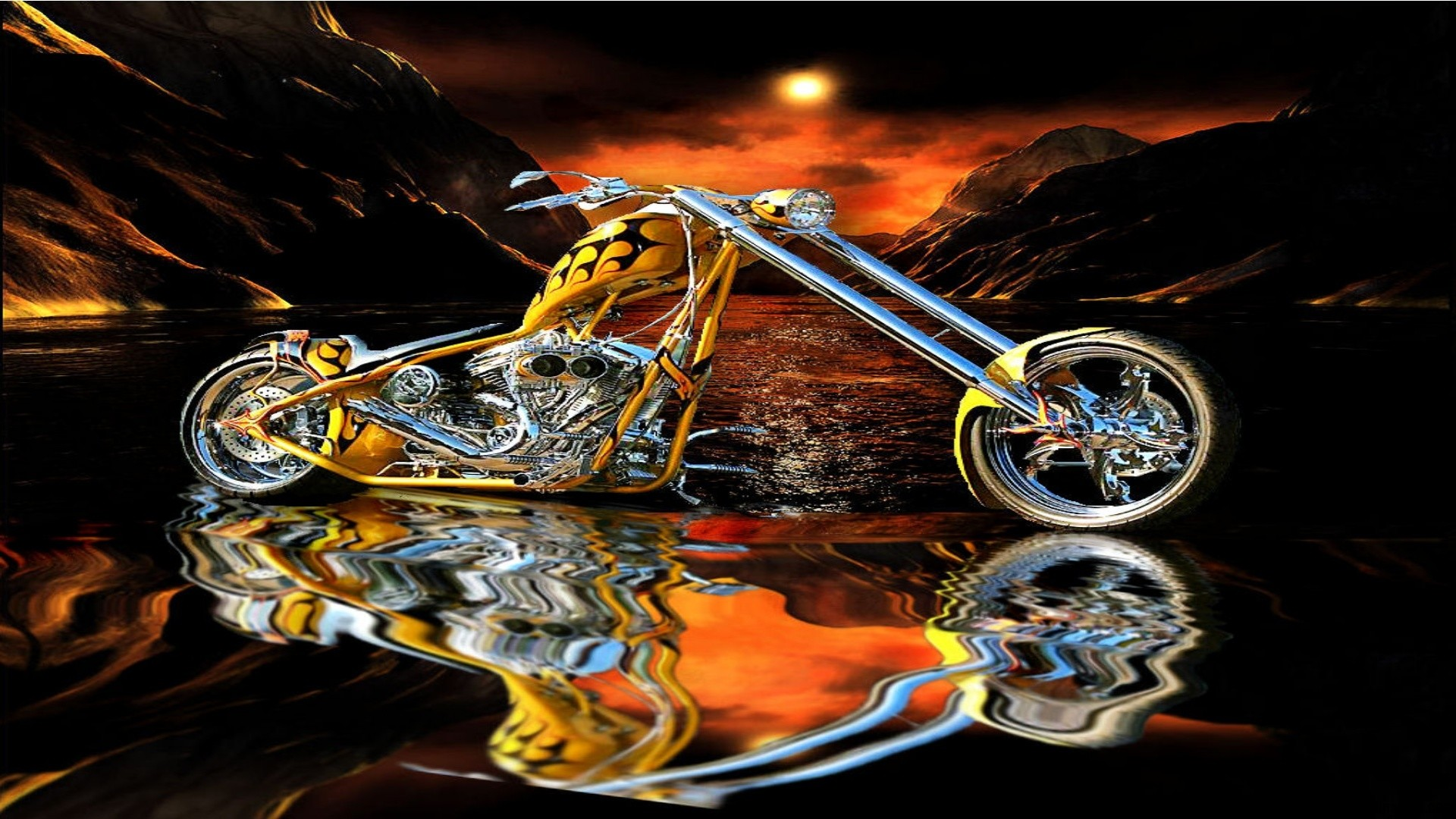 1920x1080 Chopper On Water Hd Wallpaper