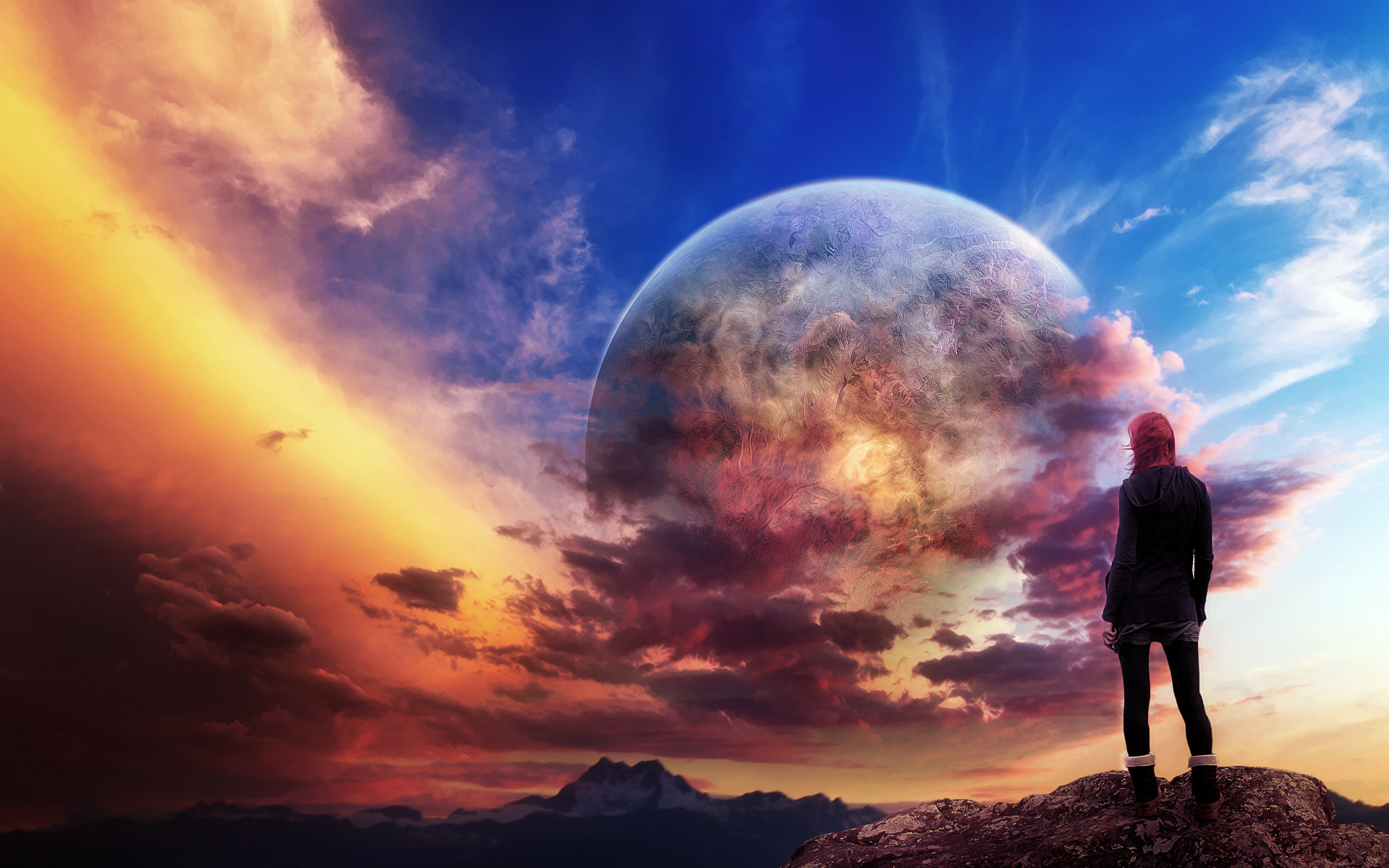 1920x1200 Landscapes Planets Science Fiction Wallpaper At 3d Wallpapers