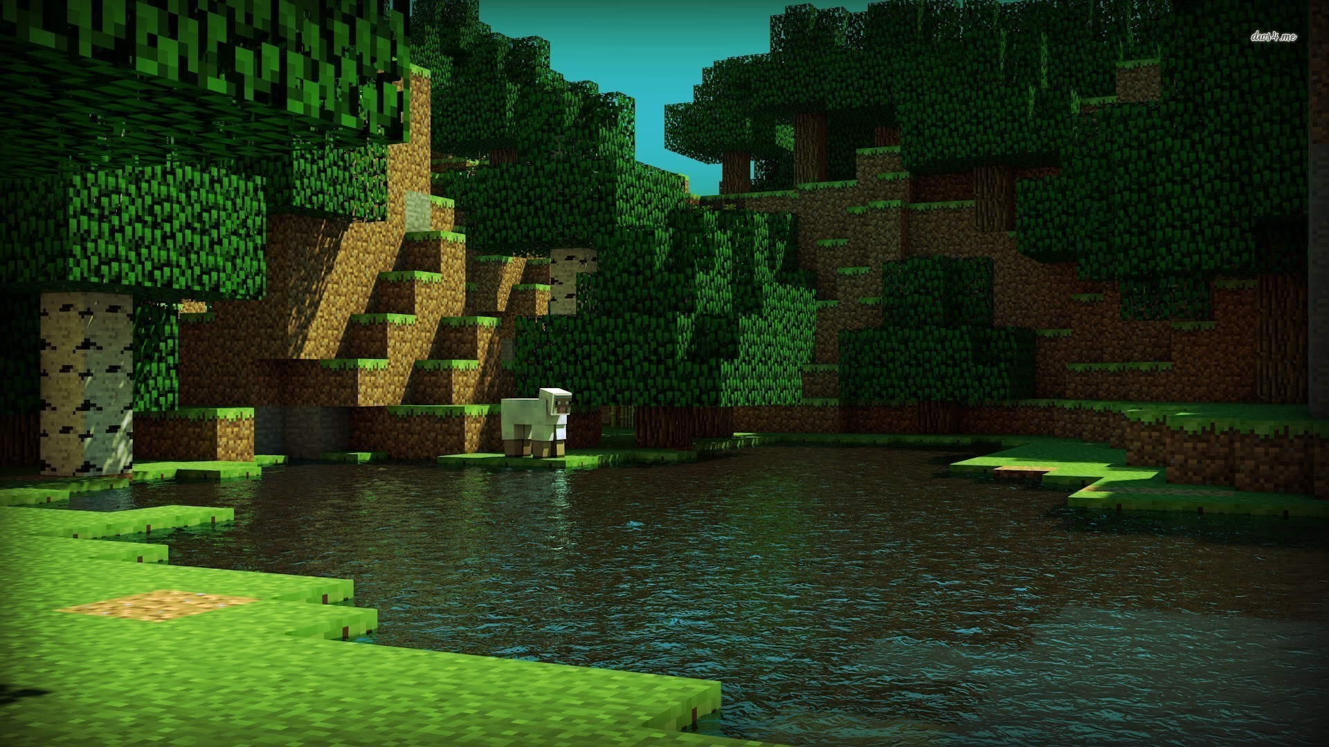 wallpaper hd minecraft green - photo #40