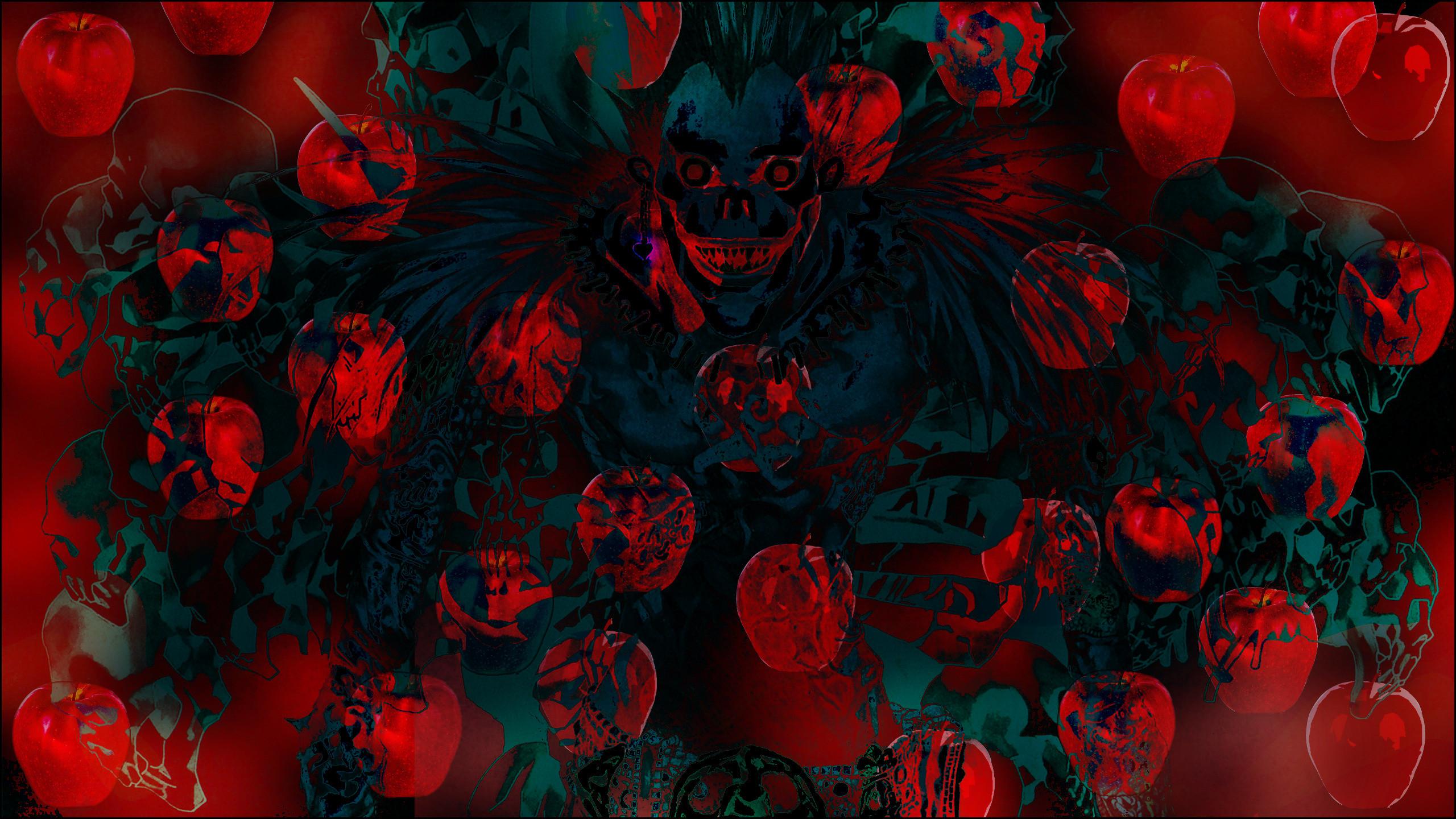 2560x1440 abstract, Trippy, Bright, Anime, LSD, Ryuk, Death Note,