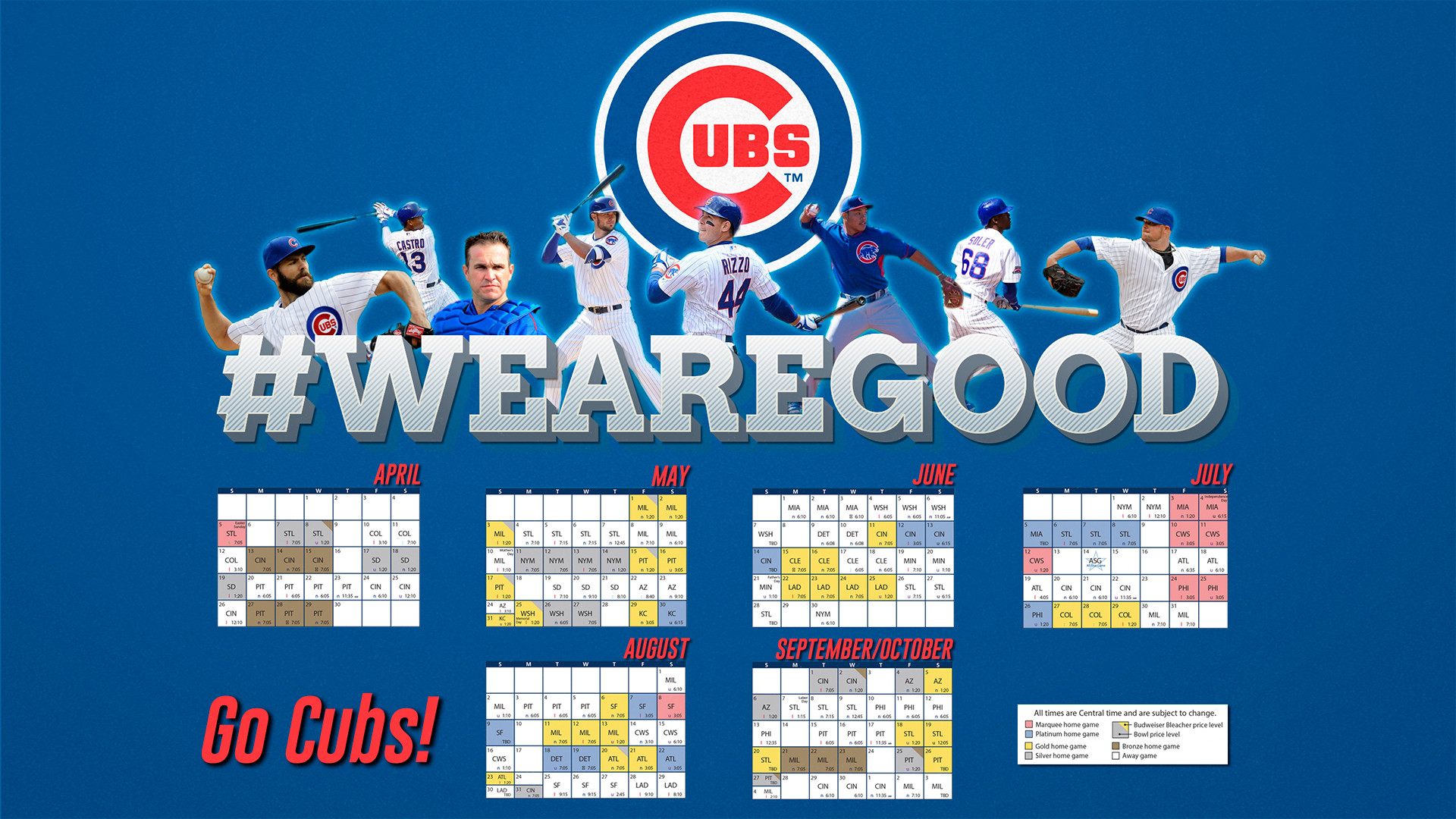 1920x1080 #wearegood 2015 Schedule wallpaper (more sizes in comments) ...