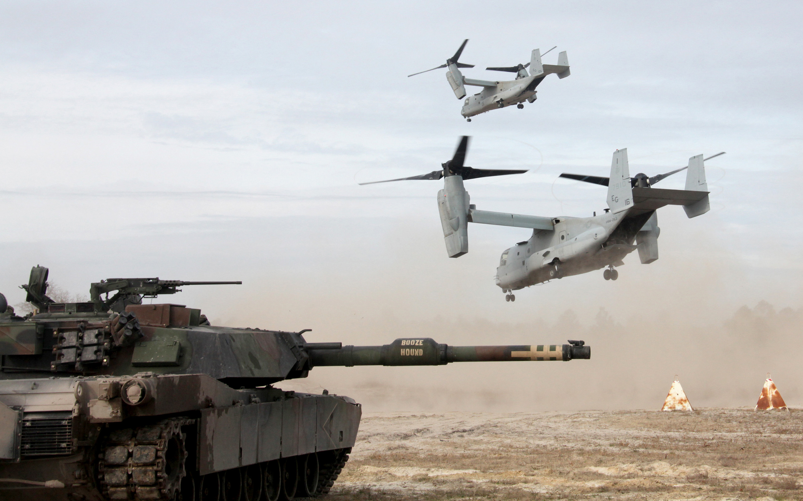 2560x1600 Aircraft M1A1 Abrams Tank Military Tanks United States Marine Corps V-22  Osprey ...