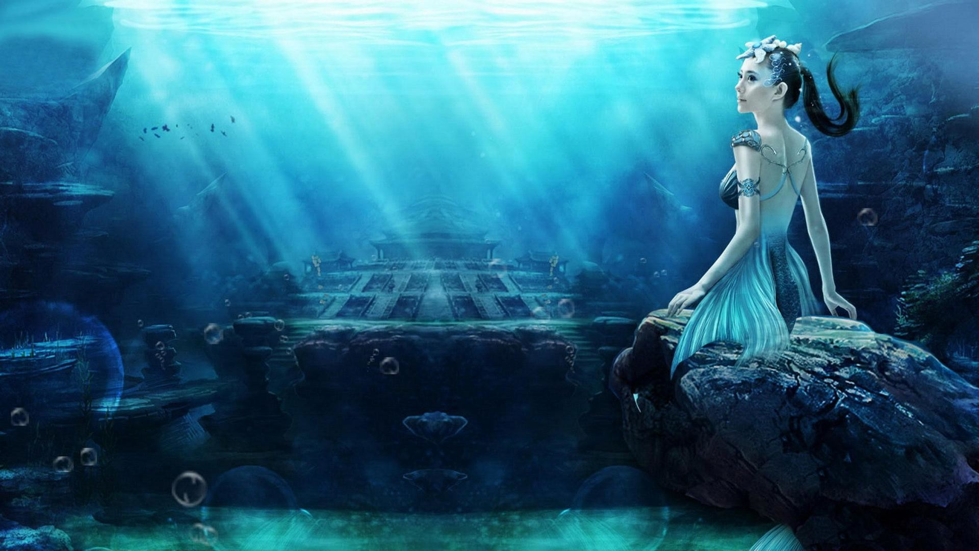 1920x1080 Mermaid Backgrounds. Wallpaper: Mermaid Backgrounds