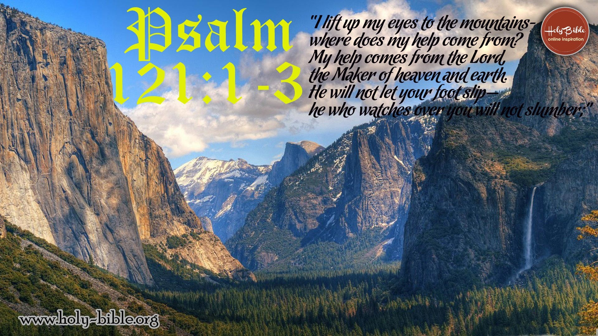 1920x1080 Bible Verse Of the day – Psalm 121:1-3