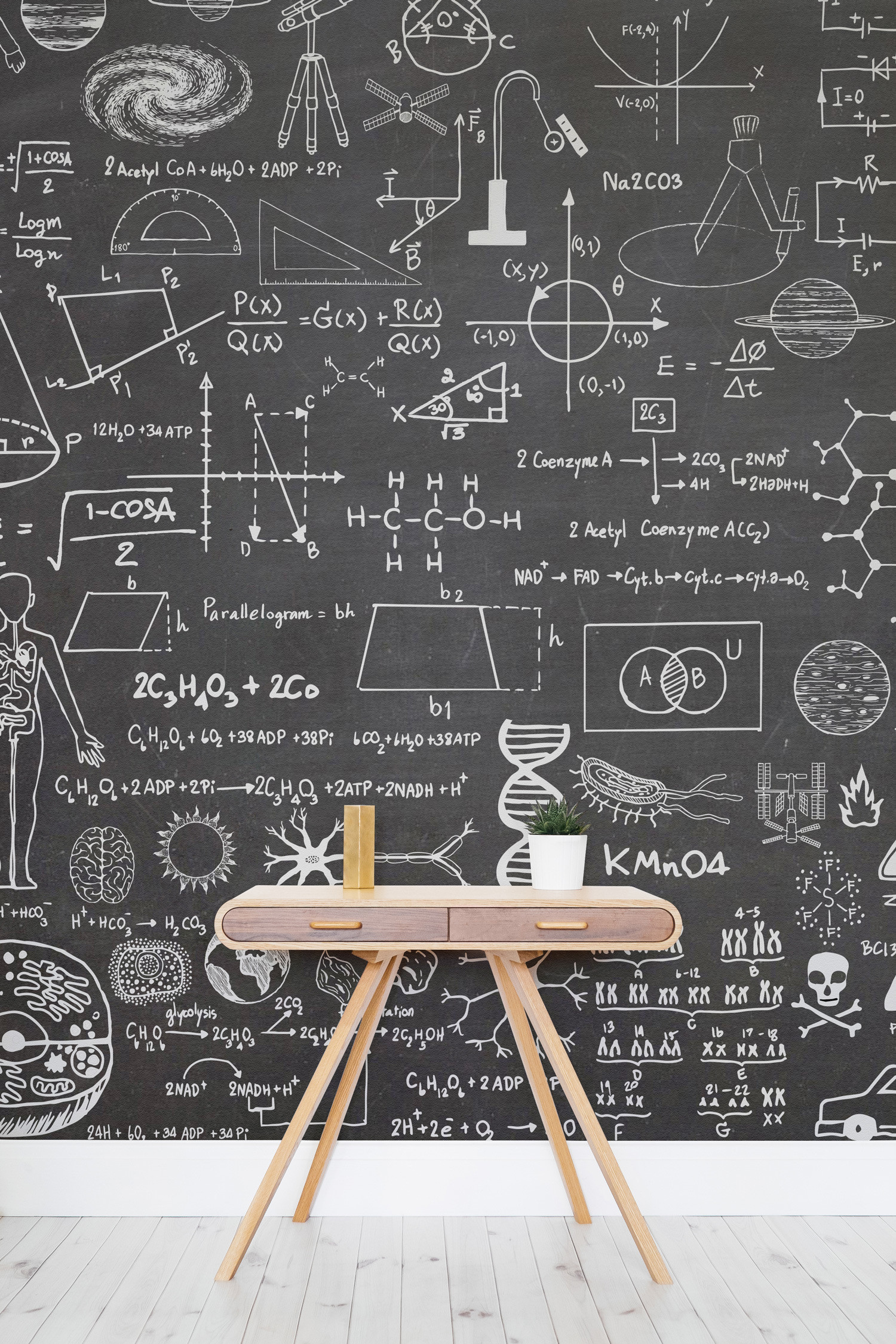 1500x2250 This striking wallpaper design takes the classic chalkboard