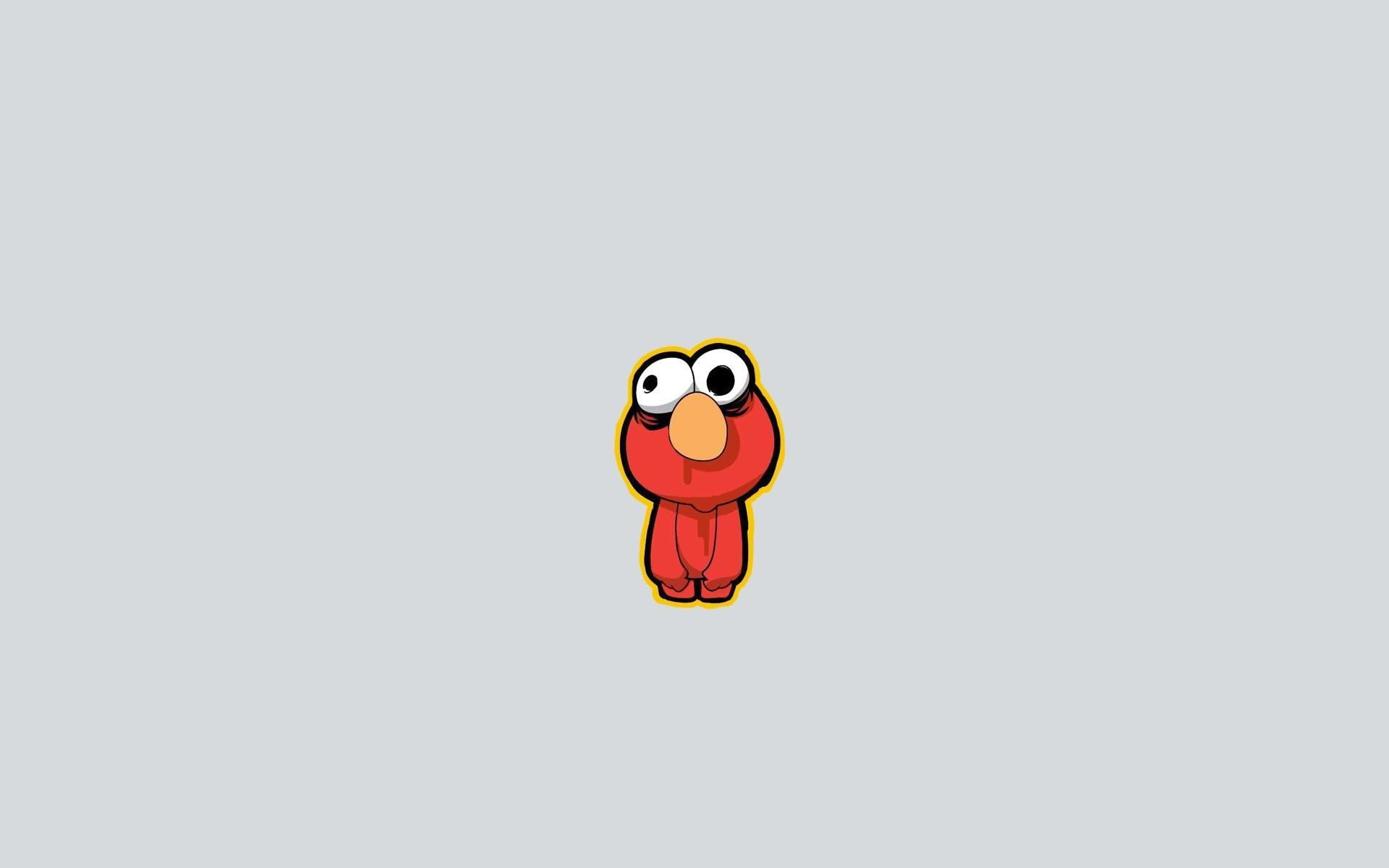 1920x1200 Elmo from Sesame Street, a gray background