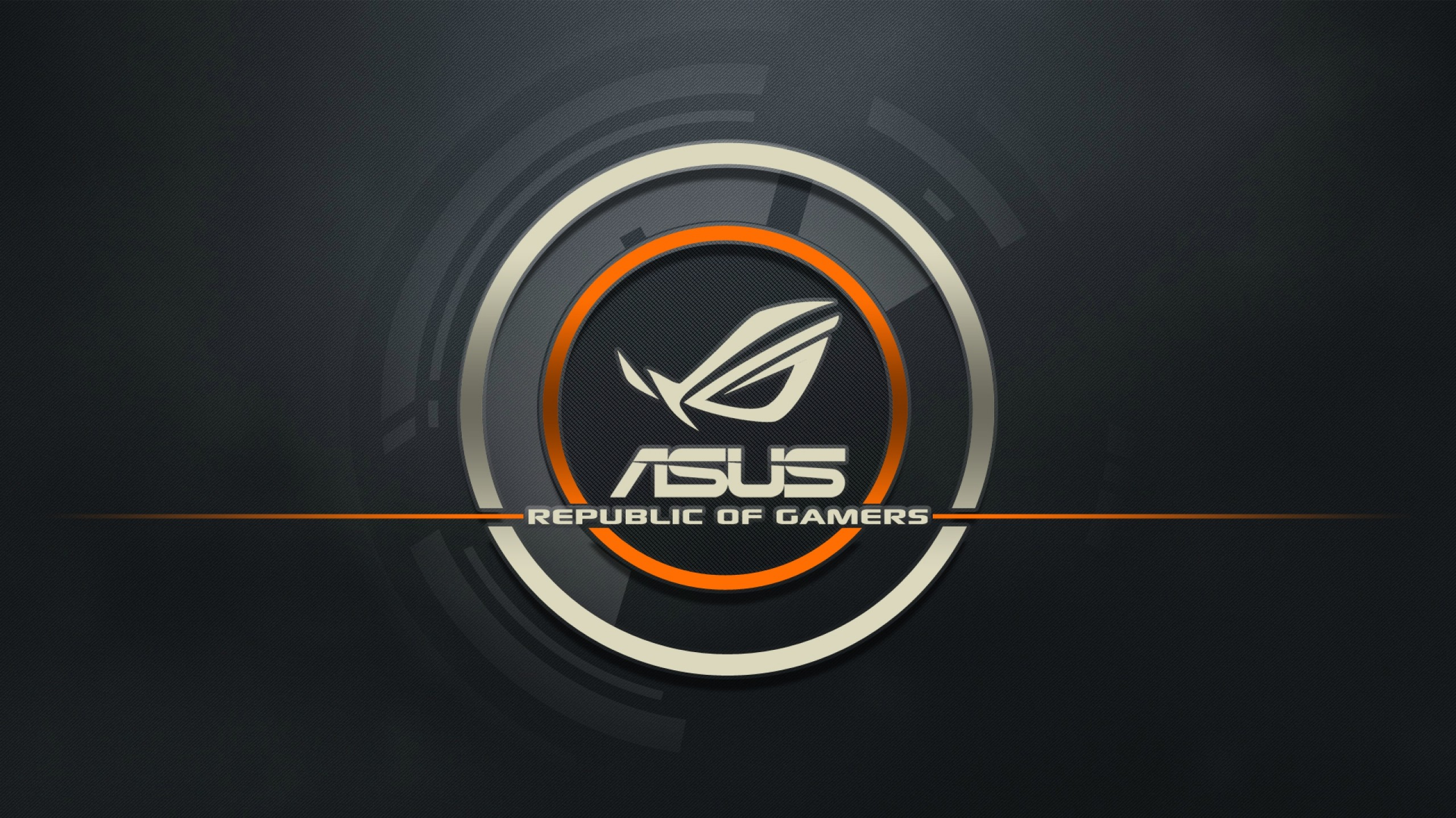 2560x1440  Wallpaper asus, logo, republic of gamers, computer
