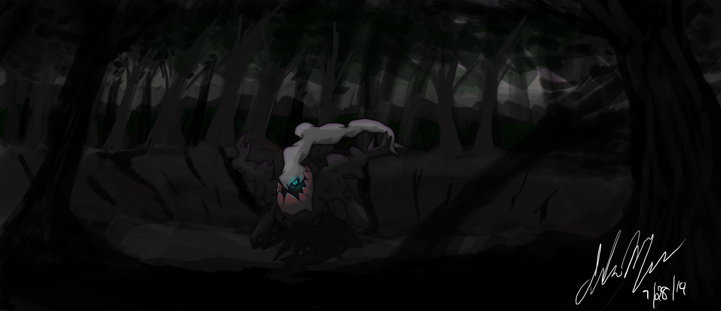 2500x1080 Darkrai on Newmoon Island by SonicX908 Darkrai on Newmoon Island by  SonicX908