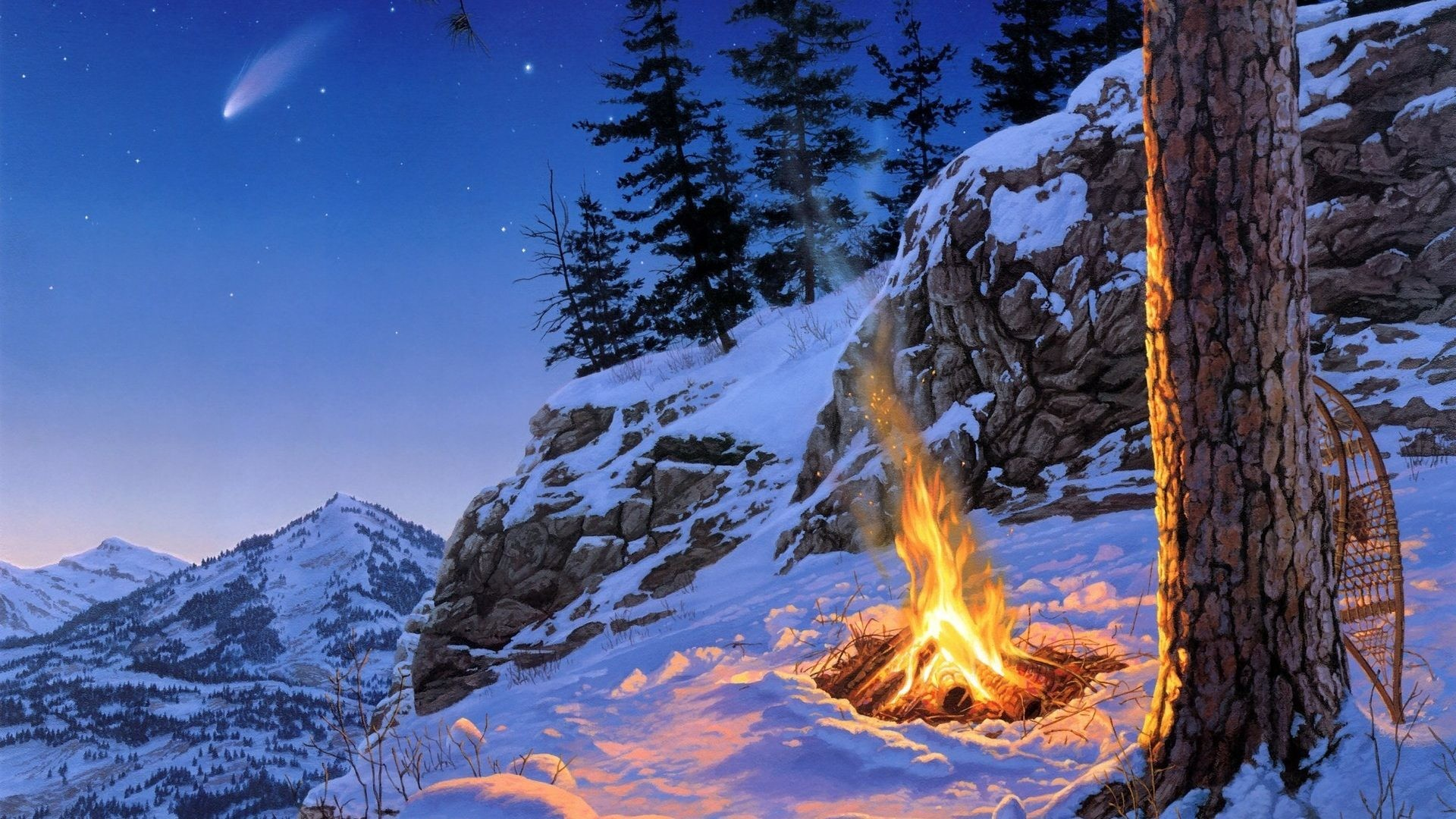 Free Mountain And Winter Wallpapers Hd: Winter Scenic Wallpaper (60+ Images