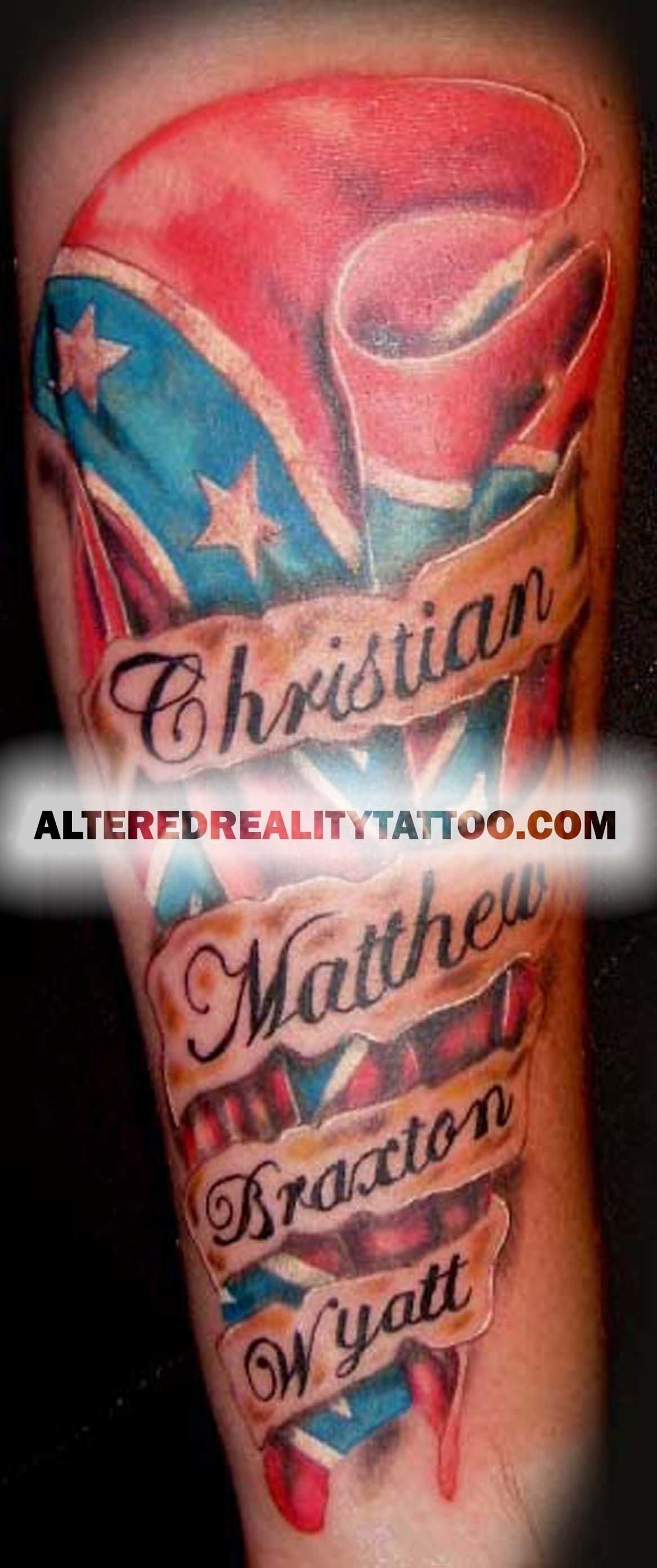1167x2783 AR Confederate Flag Tattoo Picture