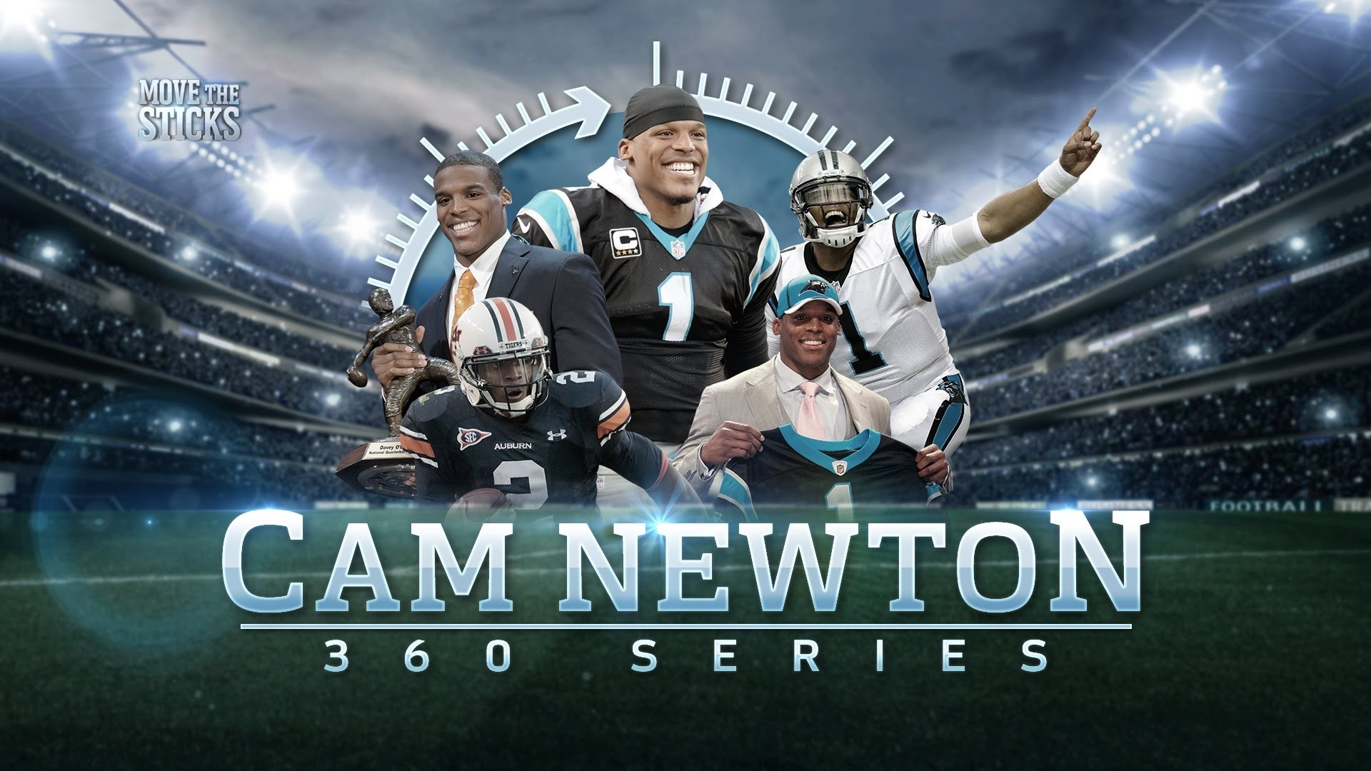 1920x1080 Cam Newton From Junior College To Mvp Cam Newton 360 Move The Cam Newton  Wallpapers 2017