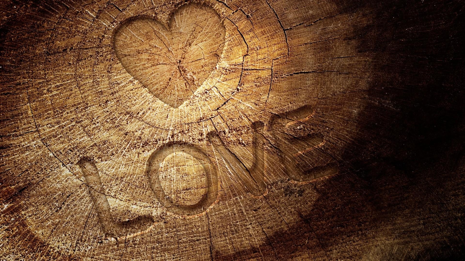 1920x1080 Wallpaper Love Stump Sign Heart