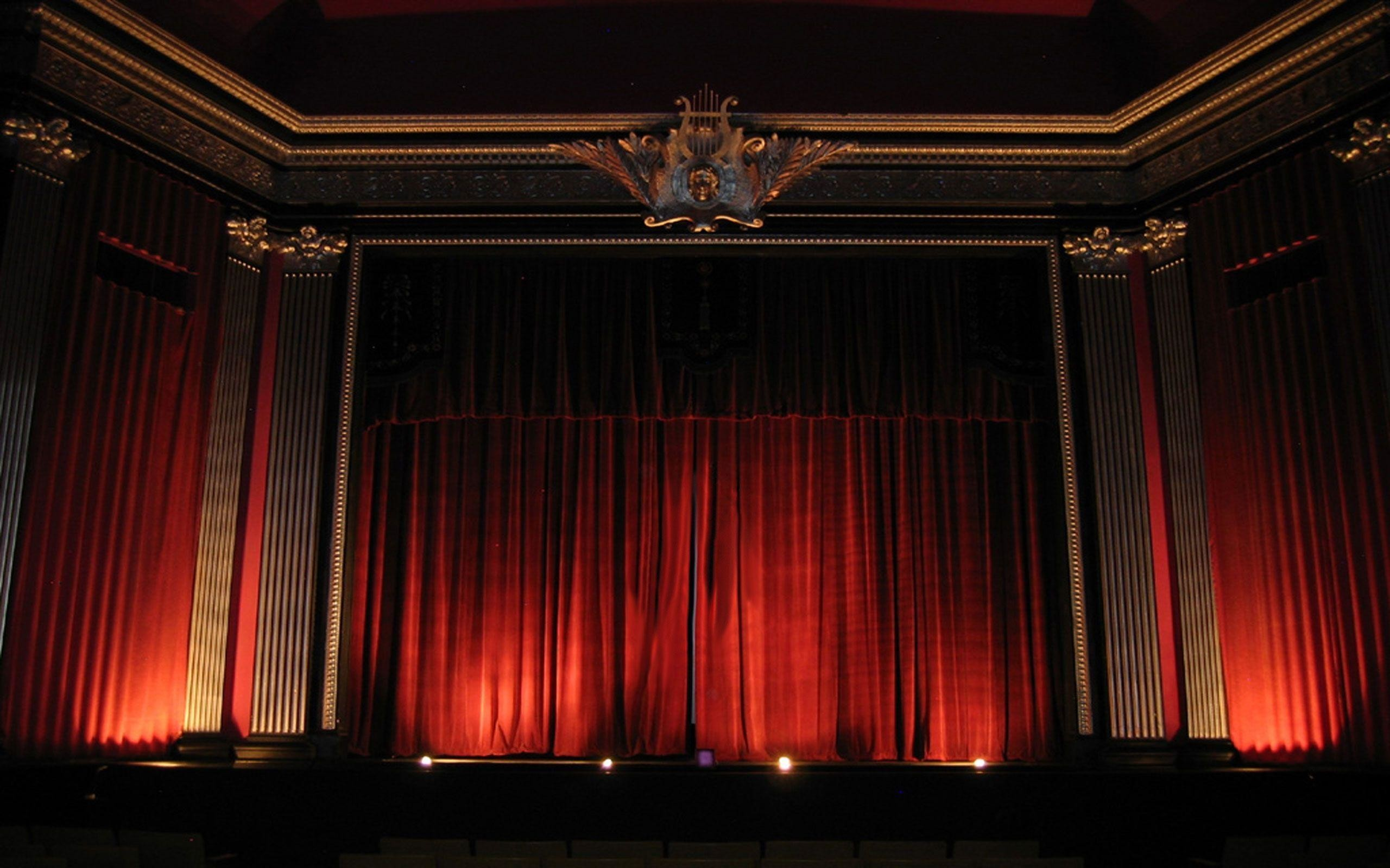 2560x1600 Theater Red Curtains Wallpaper and Stock Photo