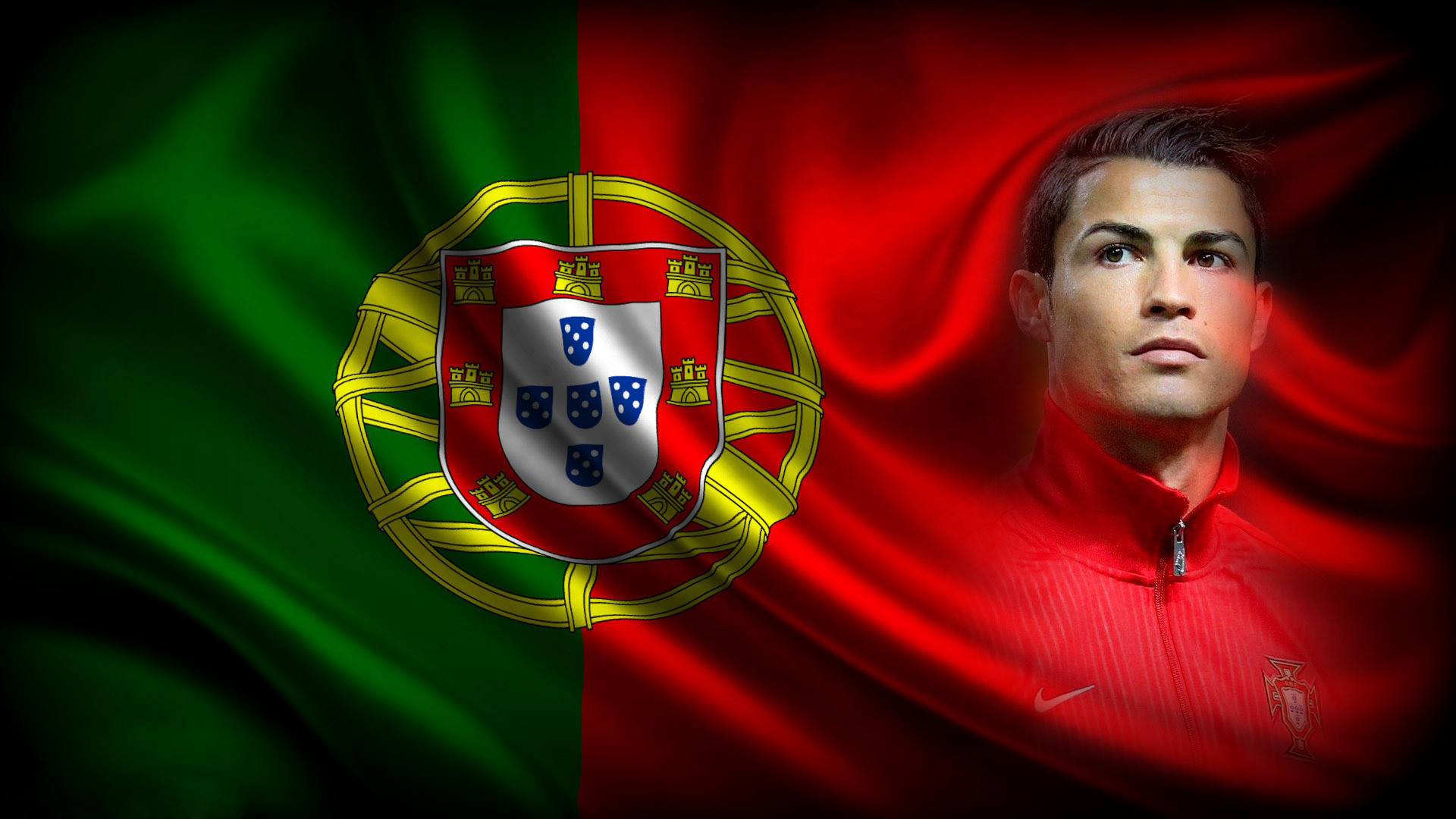 1920x1080 Sports cristiano ronaldo flag soccer portugal football cool wallpapers.