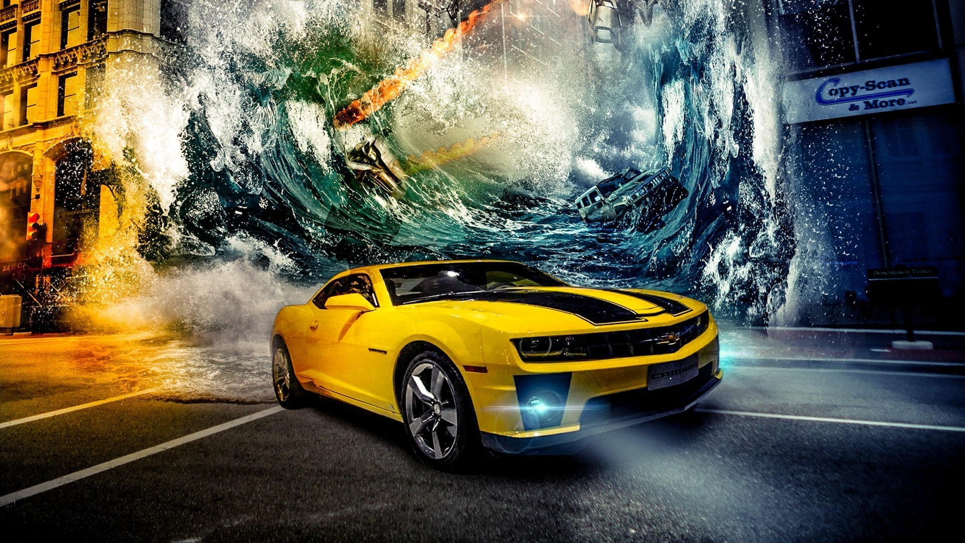 1920x1080 car, Chevrolet Camaro Bumblebee Wallpapers HD / Desktop and Mobile  Backgrounds