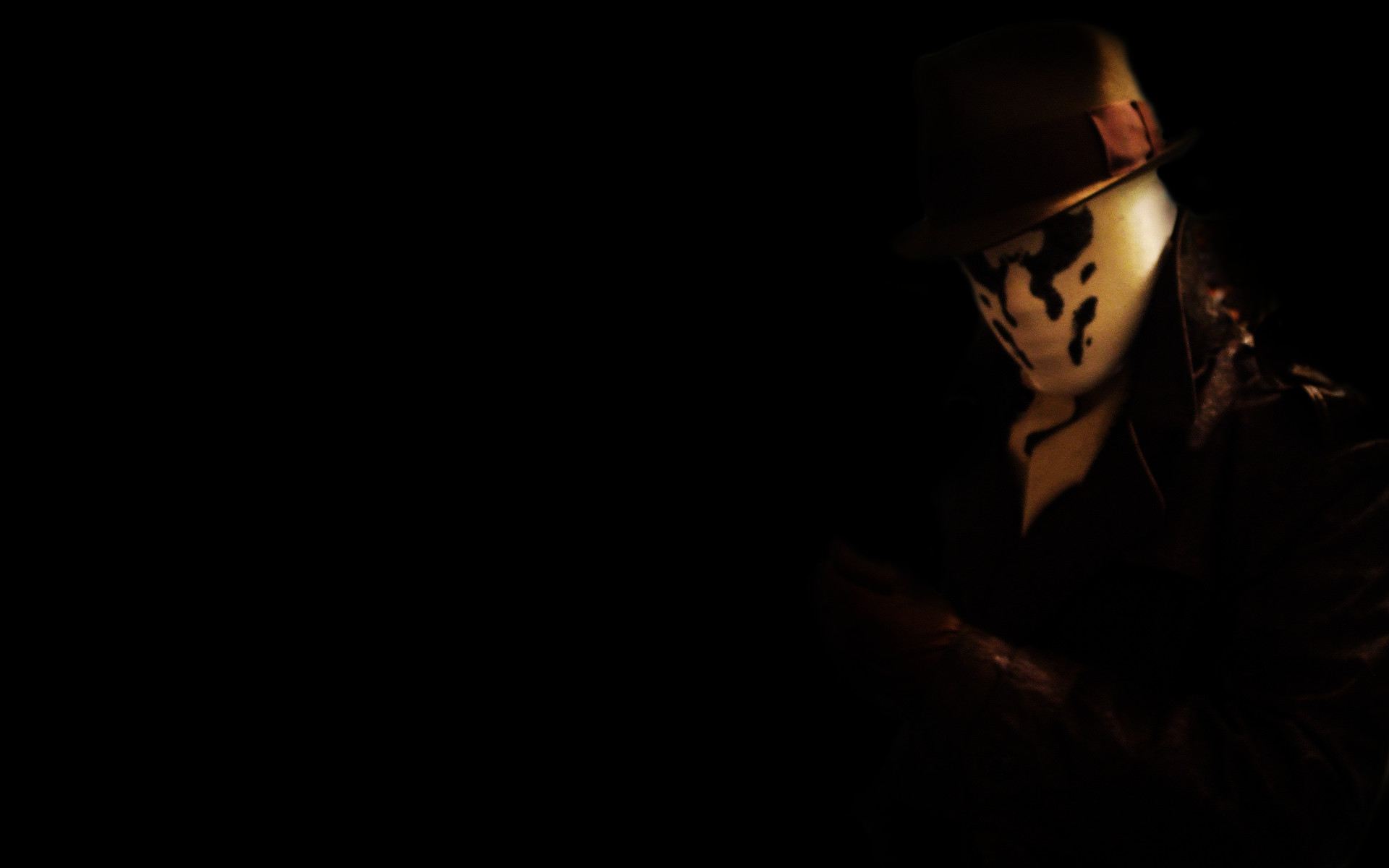 Watchmen wallpaper probably containing a business suit titled Rorschach