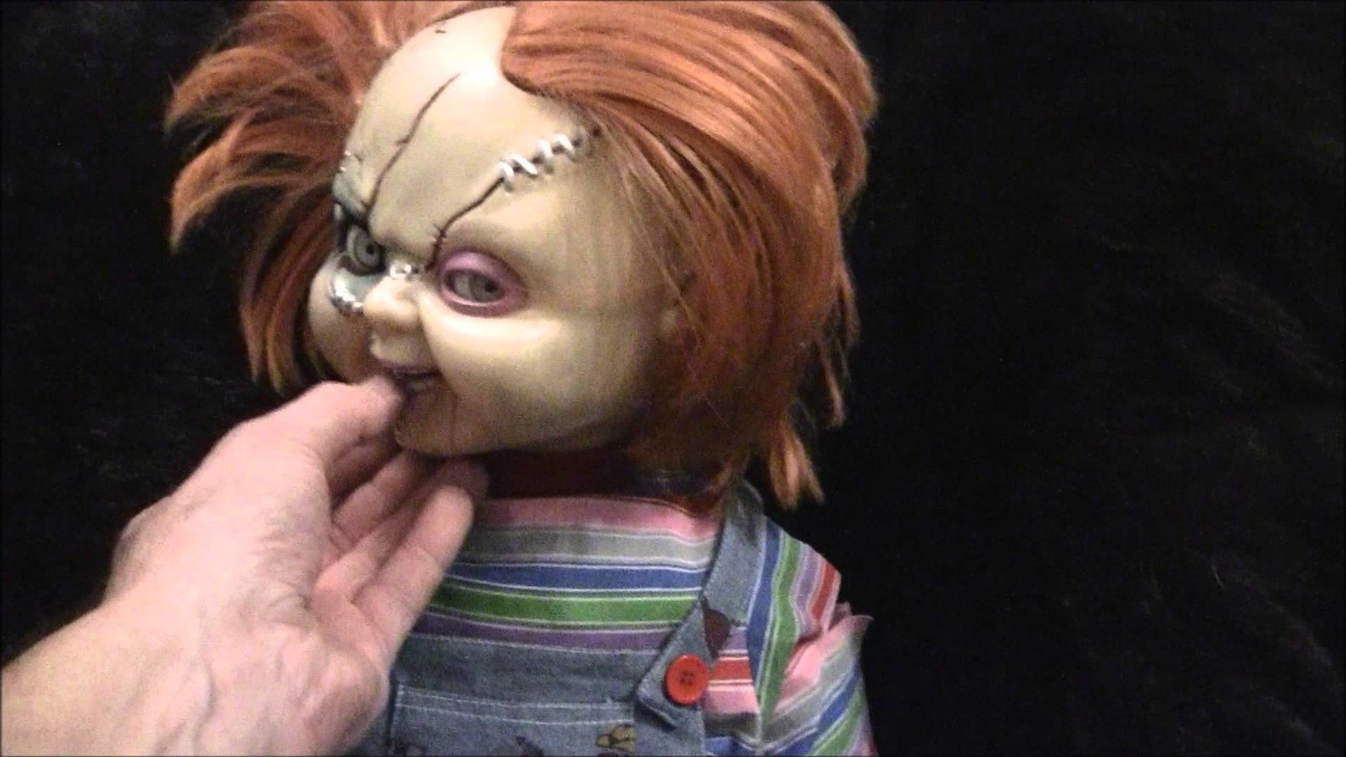 "1920x1080 Bride Of Chucky 25 "" Animated & Talking Good Guys Doll Dogs don't like  chucky - YouTube"