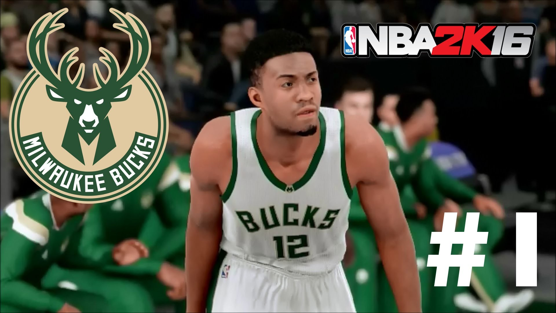 1920x1080 NBA 2K16 Milwaukee Bucks MyLeague | Feeling It Out! - Kristaps Porzingis  DEBUT! | Episode 1 - YouTube