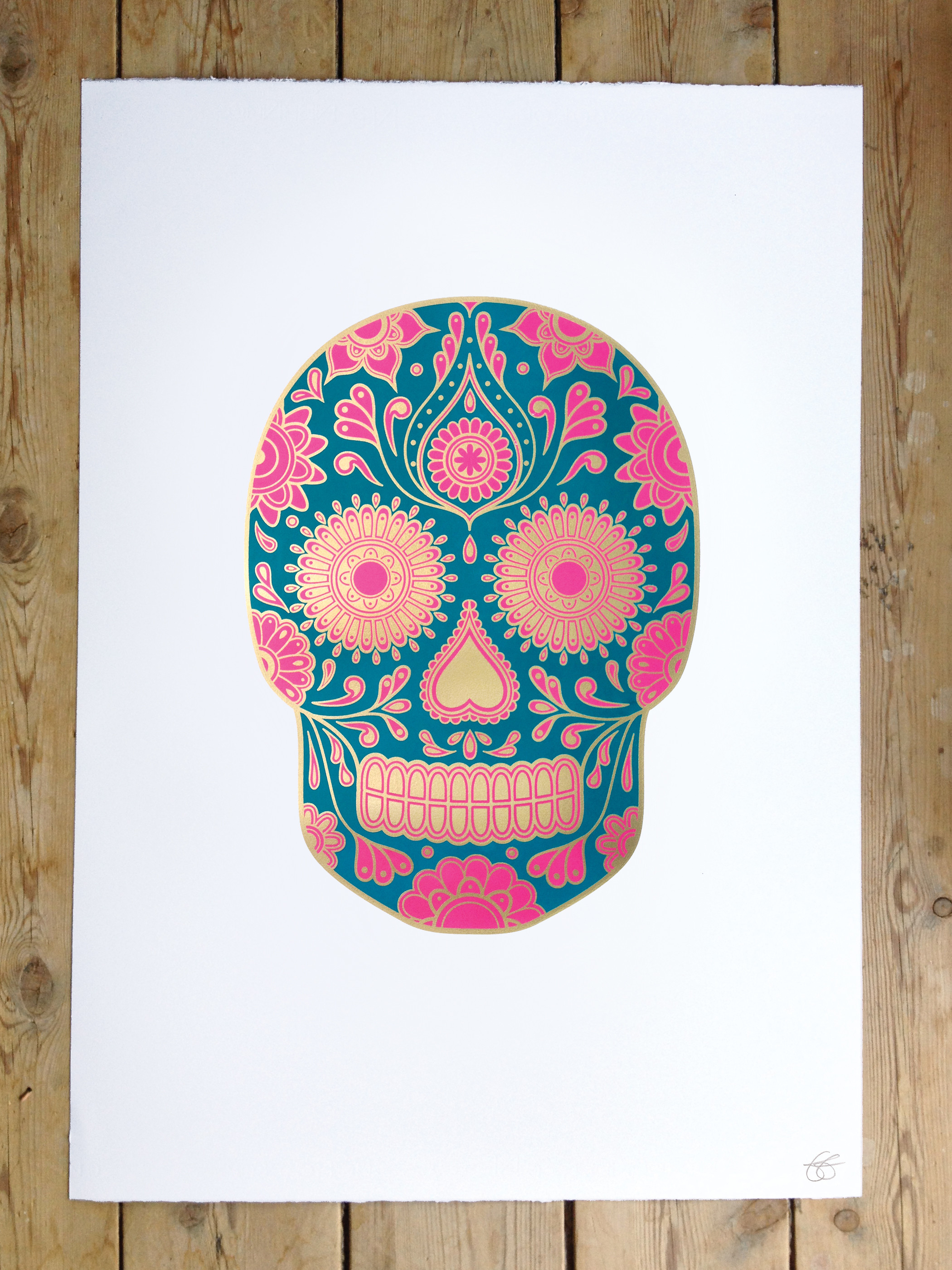 Girly skull wallpaper 58 images - Sugar skull background ...