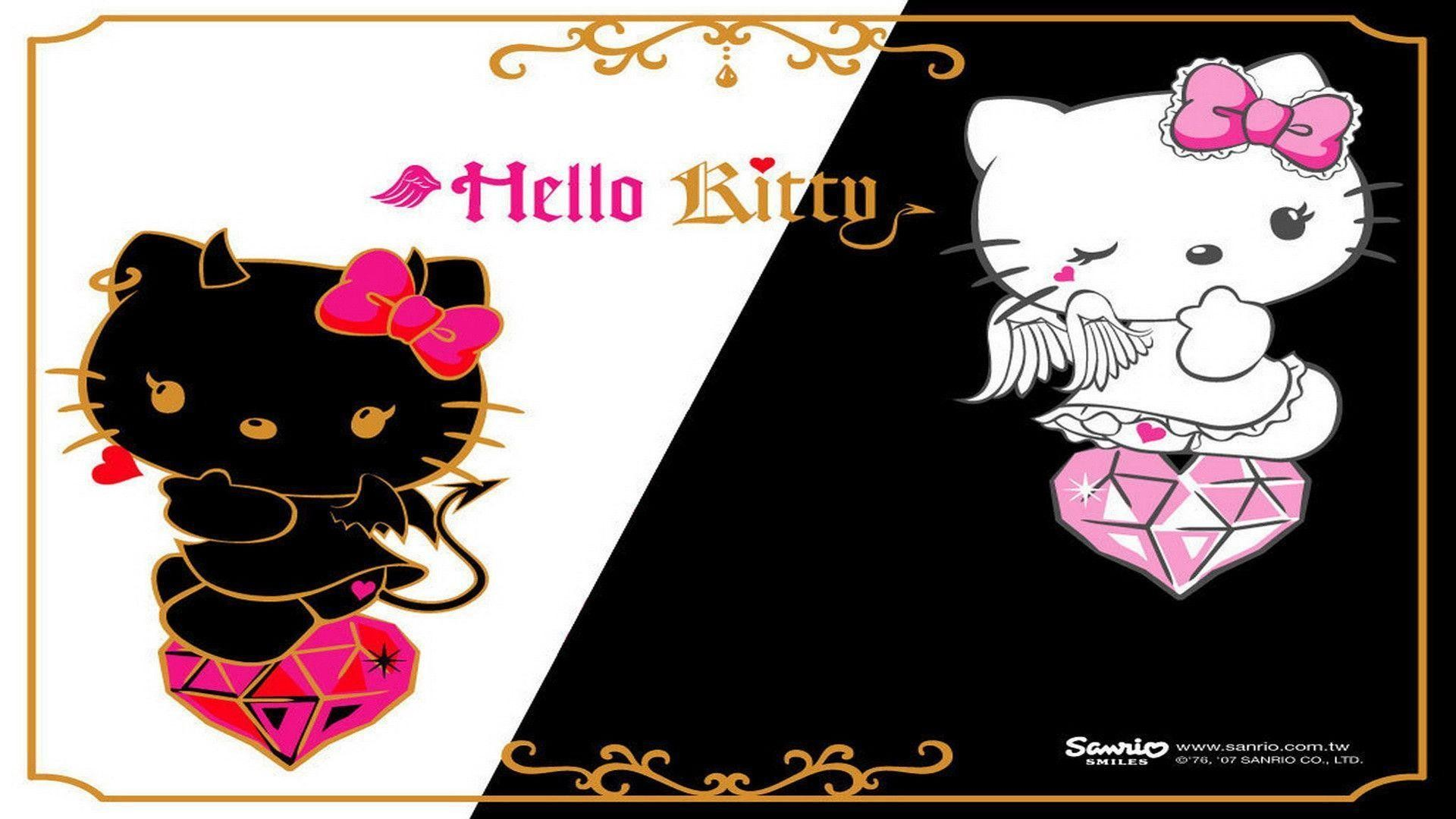1920x1080 Hello Kitty black and white Wallpaper | HD Wallpapers, backgrounds .