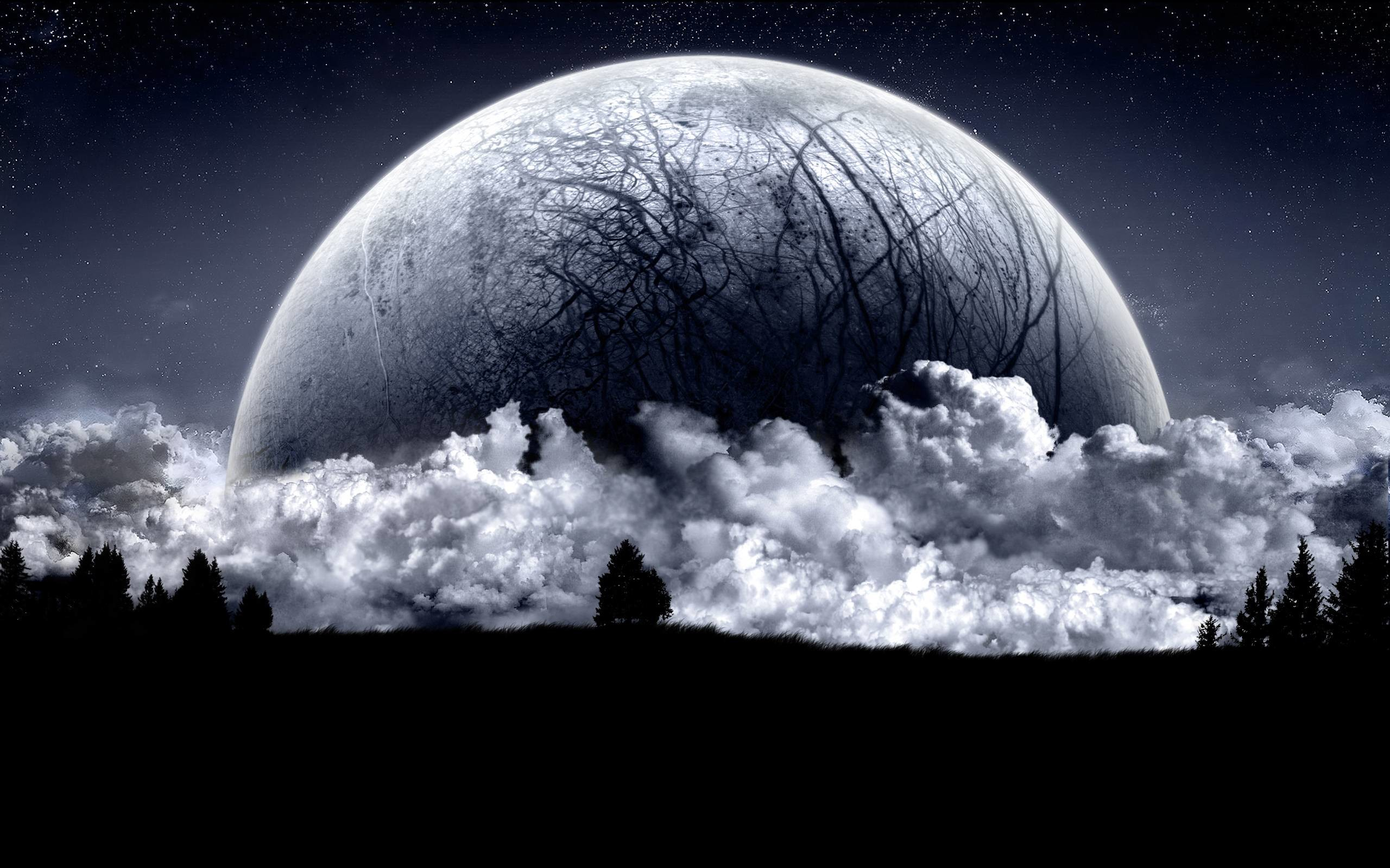 2560x1600 Moon Background Widescreen Wallpapers 16405