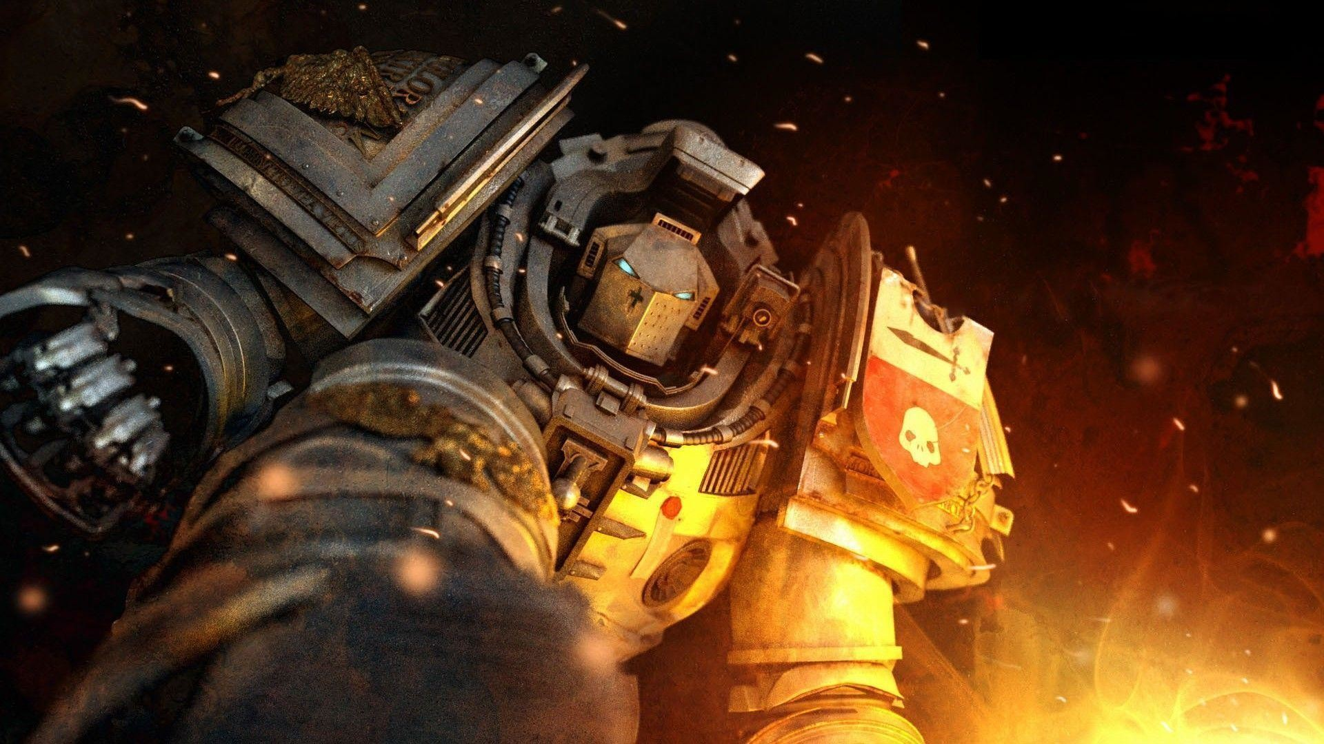 1920x1080 Imperial Fists <b>Space Marine</b> HD <b>Wallpaper