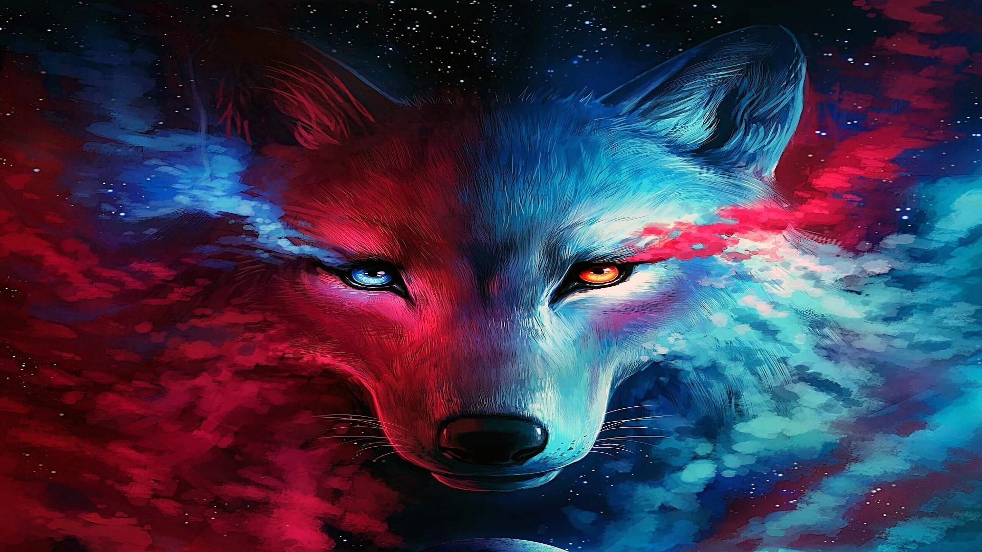 1920x1080  Galaxy Wolf Wallpaper | Wallpaper Studio 10 | Tens of thousands  HD and UltraHD wallpapers for Android, Windows and Xbox