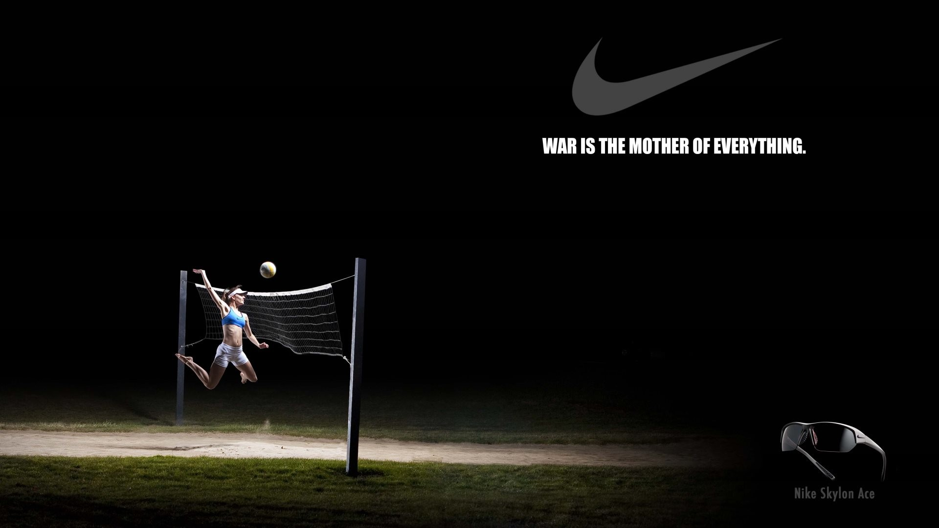 1920x1080 4K HD Wallpaper: Nike Creative Volleyball Poster
