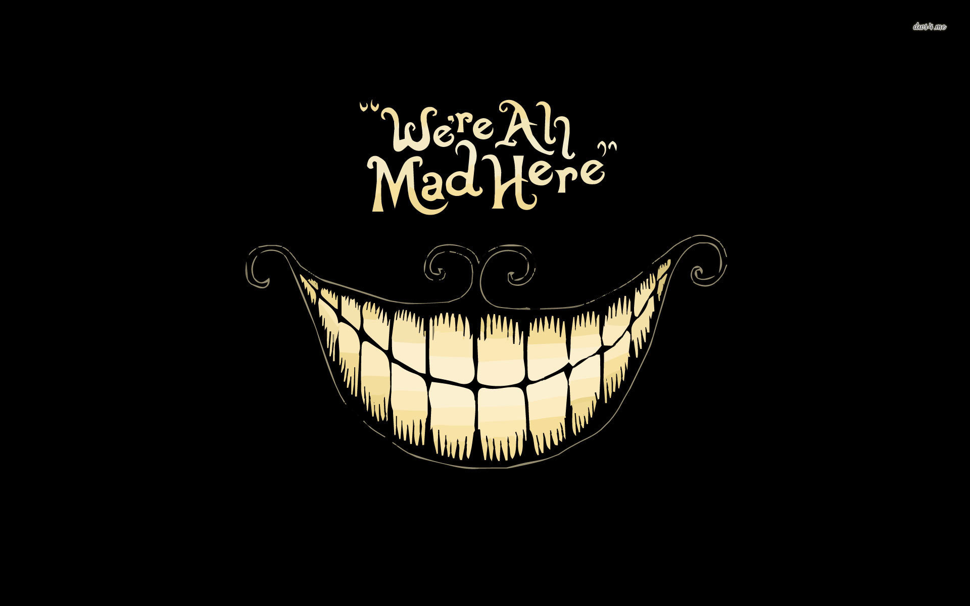 1920x1200 ... We're all mad here, Cheshire cat - Alice in Wonderland wallpaper   ...