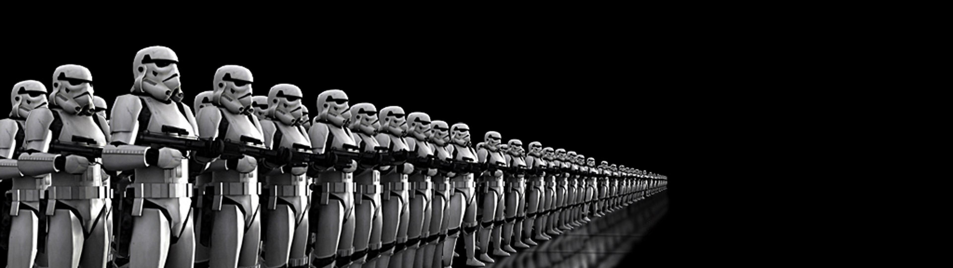 3840x1080 star wars stormtroopers storm troopers HD Wallpaper - Movies & TV .