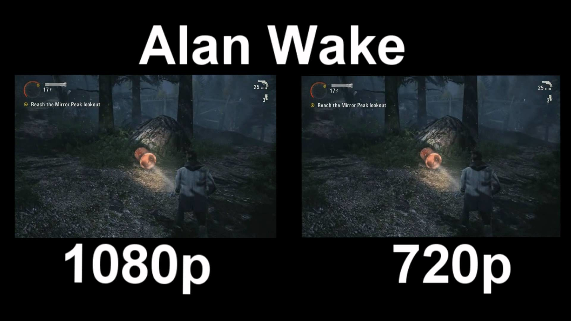 1920x1080 1080p Vs. 720p (Alan Wake)