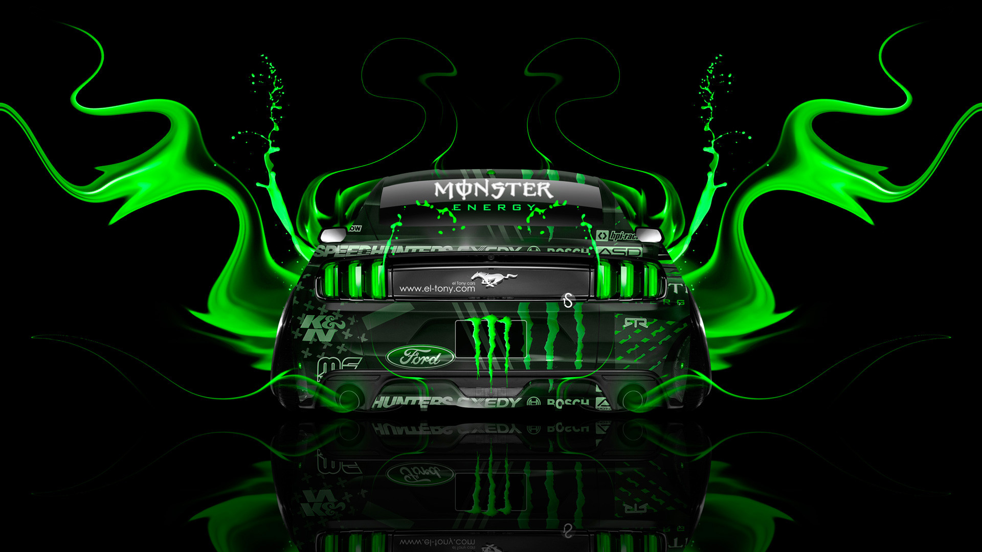 Monster Energy Nissan GTR R35 Fantasy Back Plastic  .