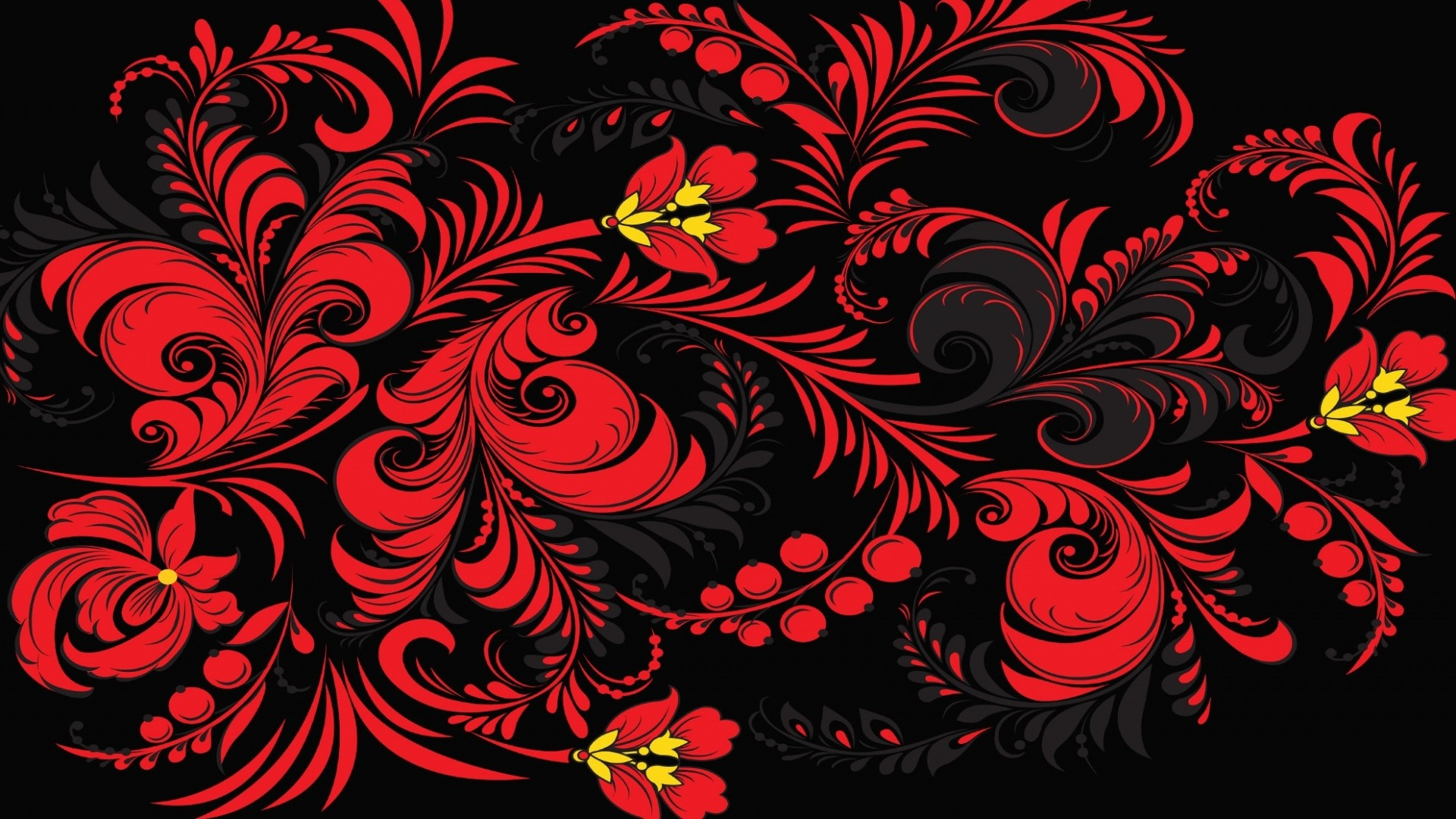 1920x1080 Preview wallpaper khokhloma, pattern, color, background, russia, texture