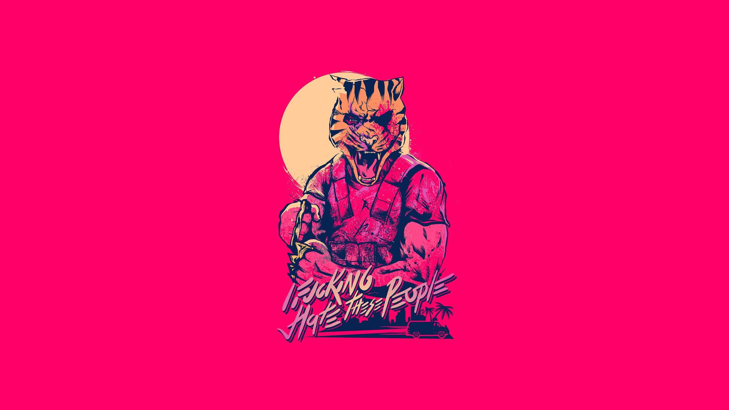 2560x1440 Hotline Miami A HD Wallpaper