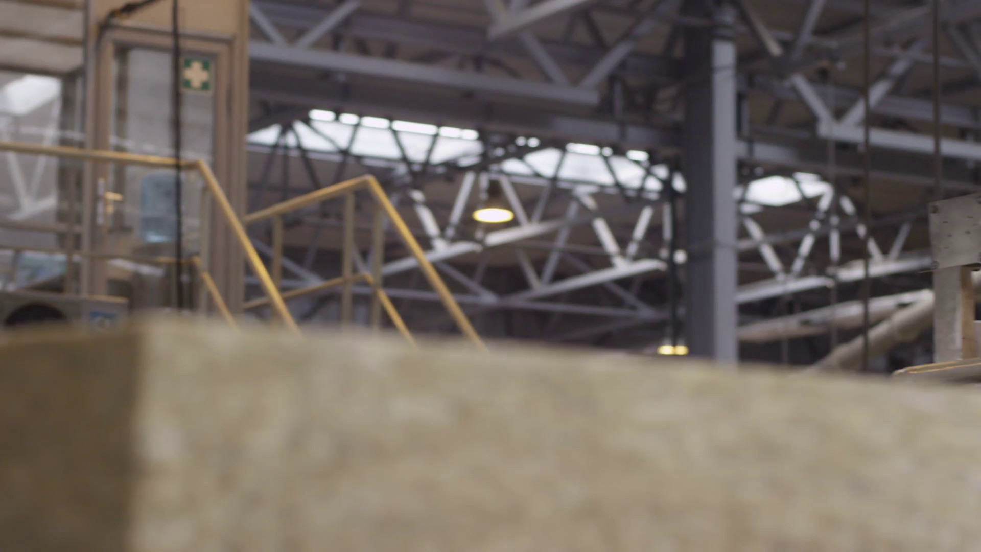 1920x1080 Worker Controls Soundproofing and Insulation Production Stock Video Footage  - Storyblocks Video