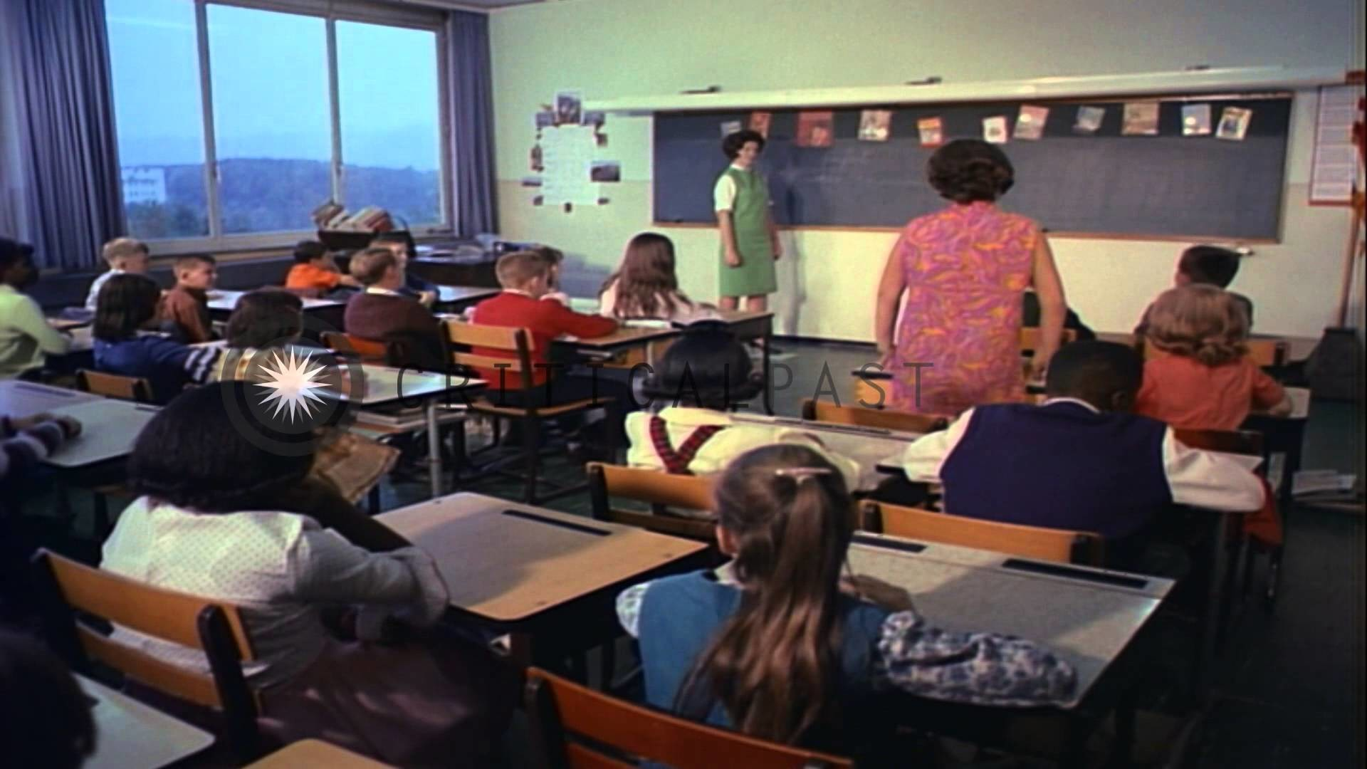 1920x1080 A teacher asks questions in an English class at the American Elementary  School in...HD Stock Footage