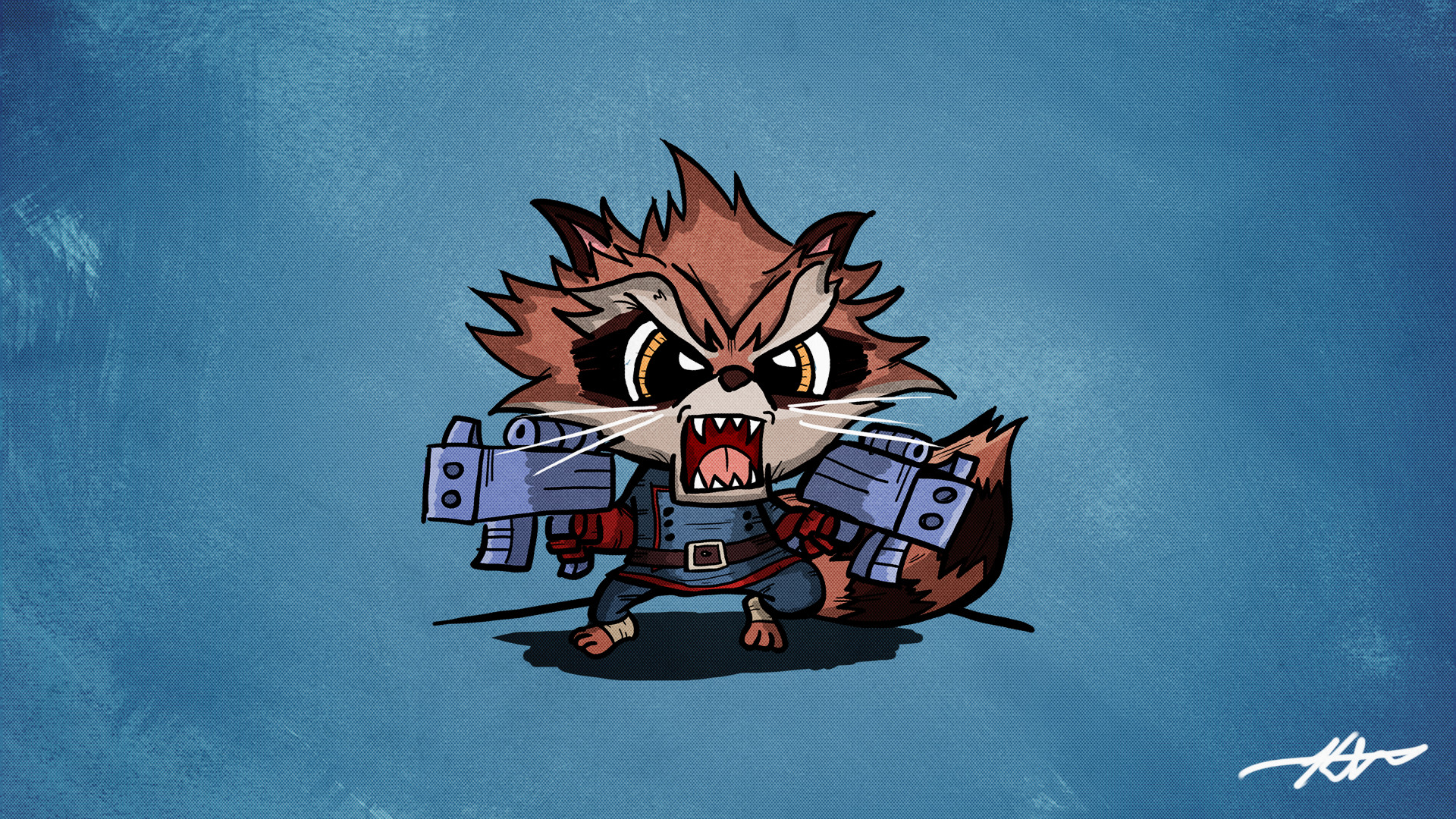 1920x1080 Rocket Raccoon - Guardians of the Galaxy wallpaper by BiigM on .
