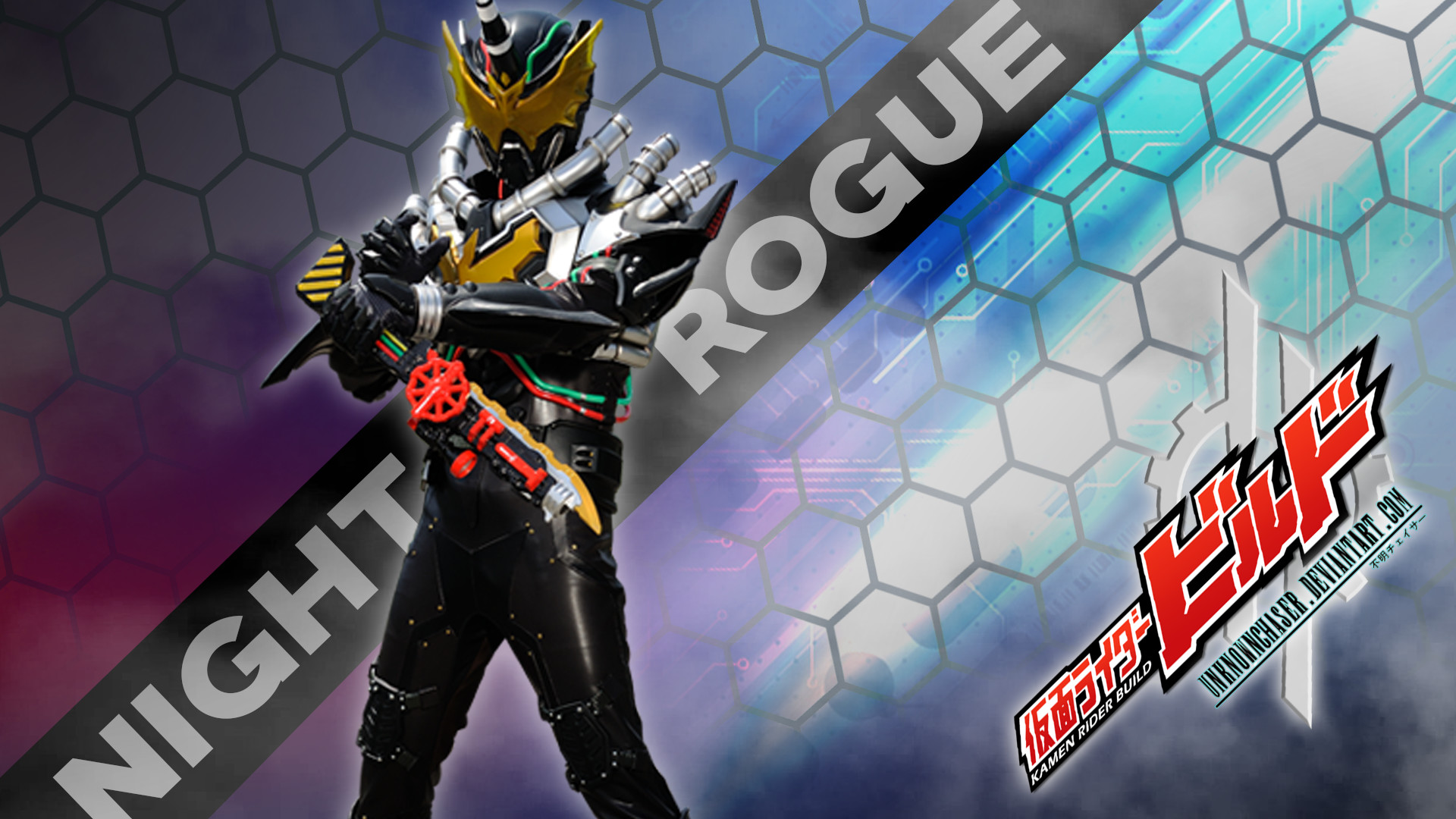 1920x1080 ... Kamen Rider Build - Night Rogue Wallpaper by UnknownChaser