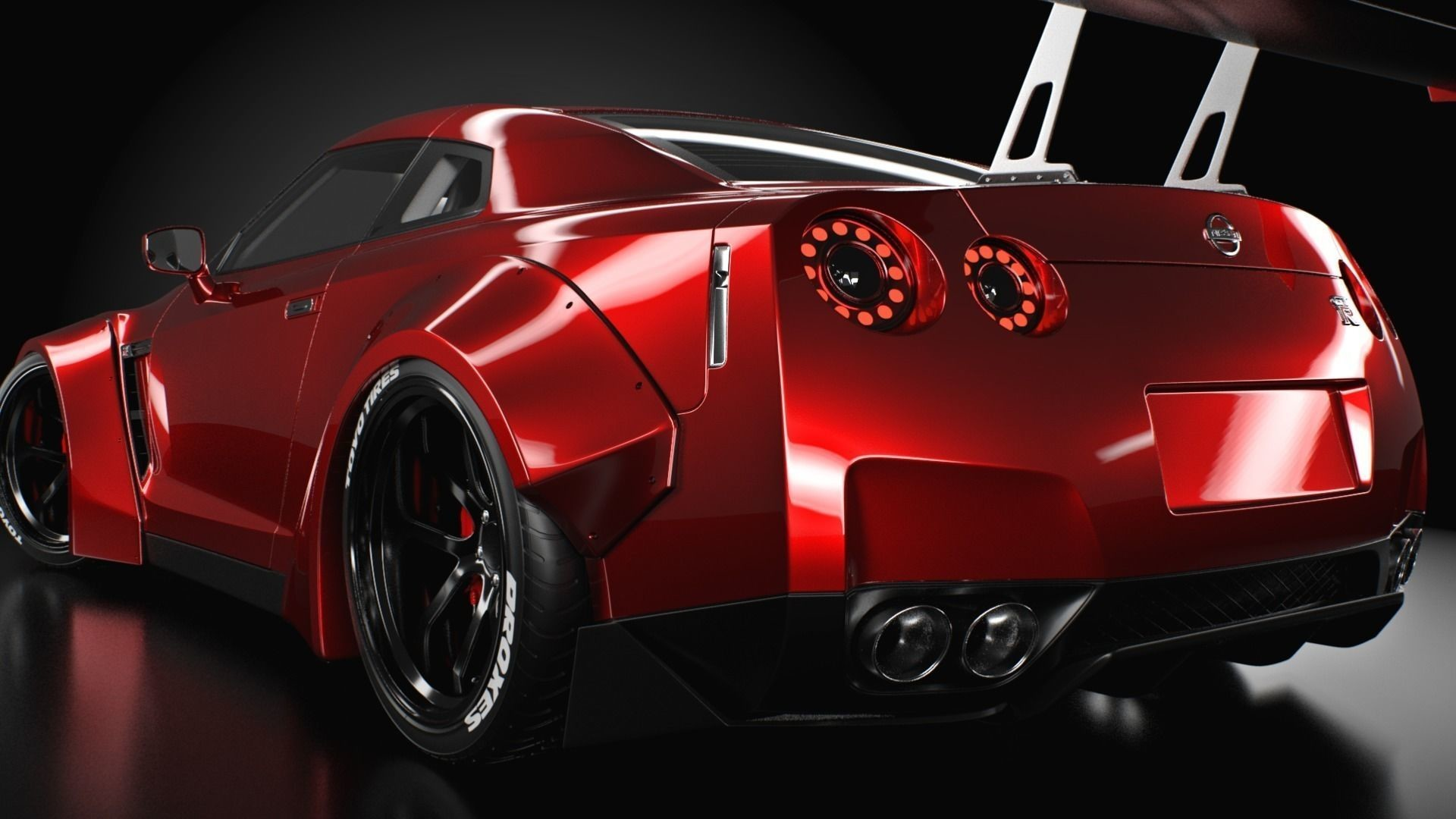 1920x1080 ... nissan gt-r liberty walk 3d model obj 3ds fbx c4d 2 ...