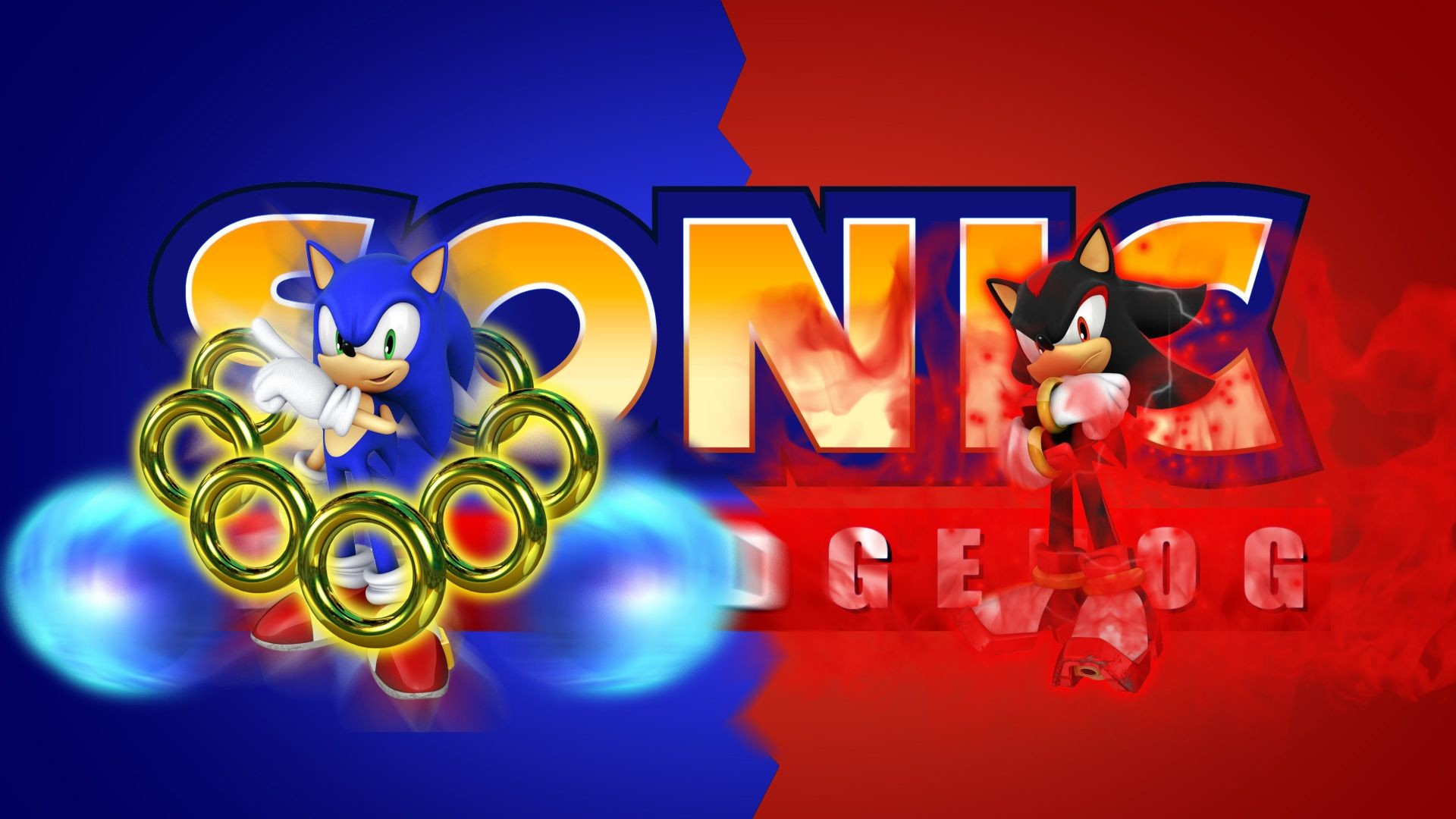 1920x1080 Sonic and Shadow by FARetis on DeviantArt