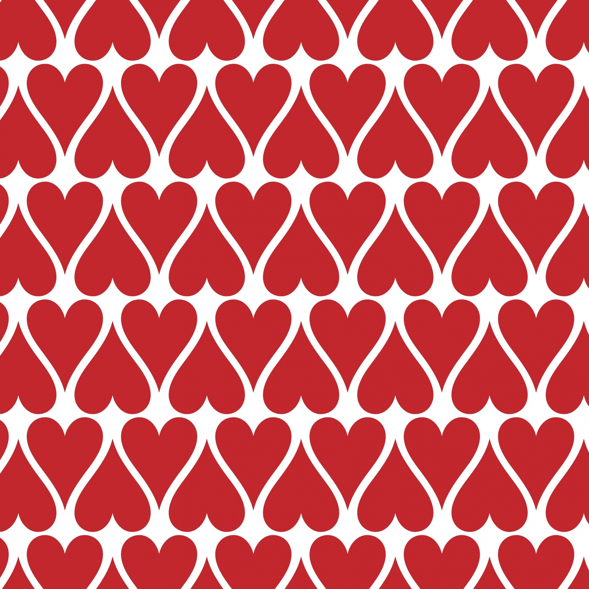 1920x1920 Red Hearts Wallpaper Background